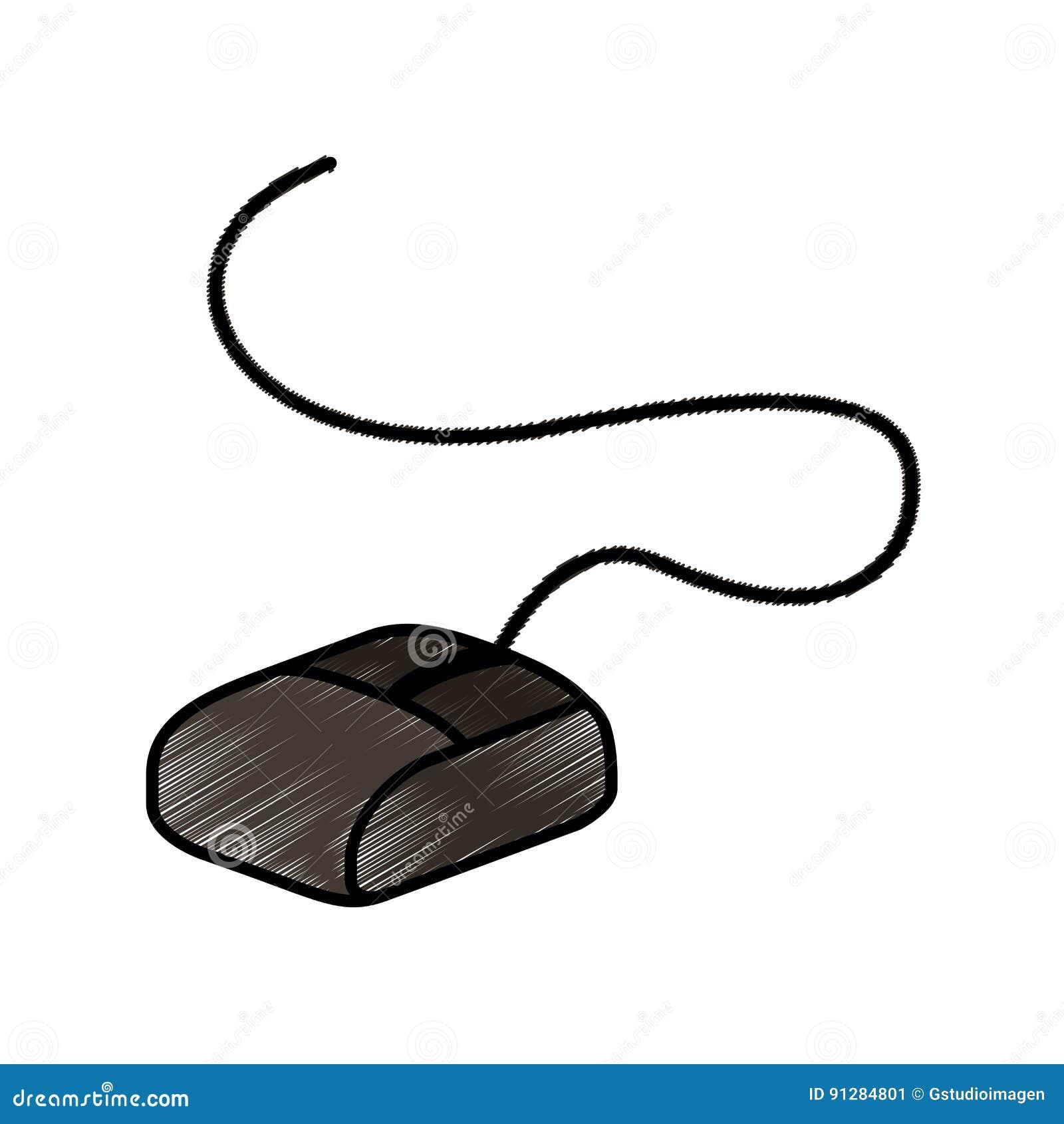 Isolerad symbol för mus dator