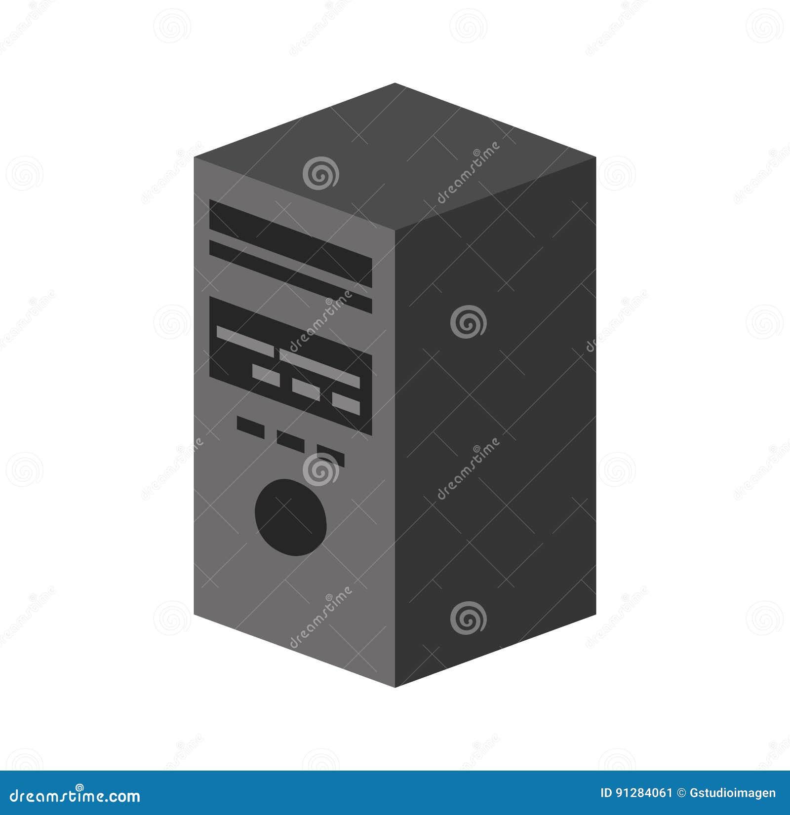 Isolerad symbol för torn server