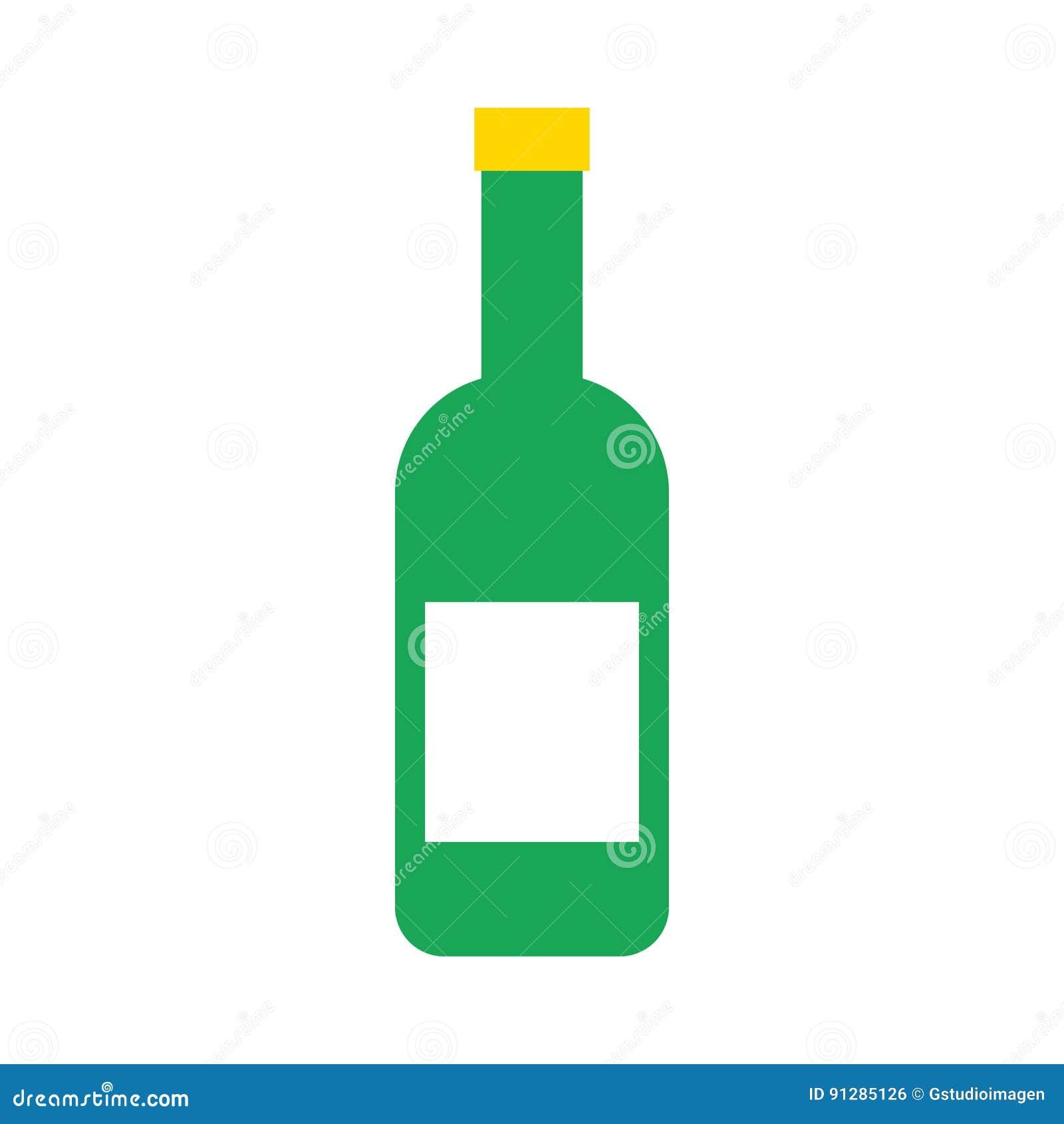 Isolerad symbol för vinflaska
