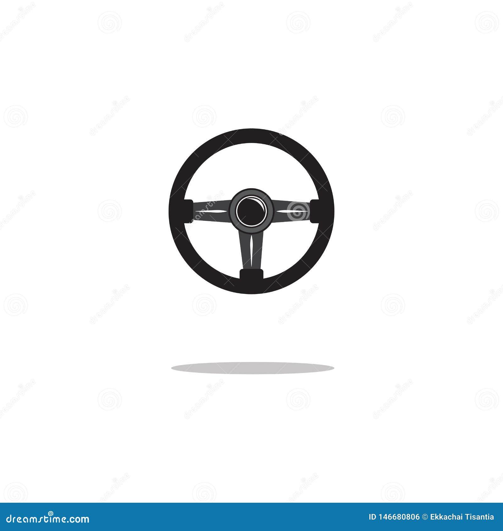 Isolerad symbol f?r styrninghjul ocks? vektor f?r coreldrawillustration