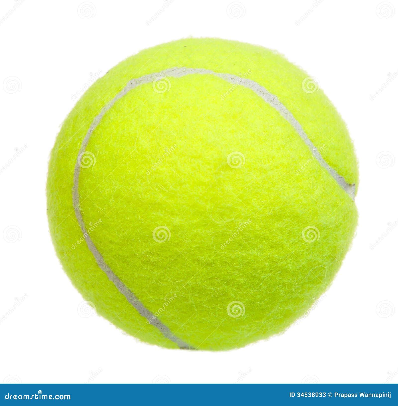 Isolerad tennisboll