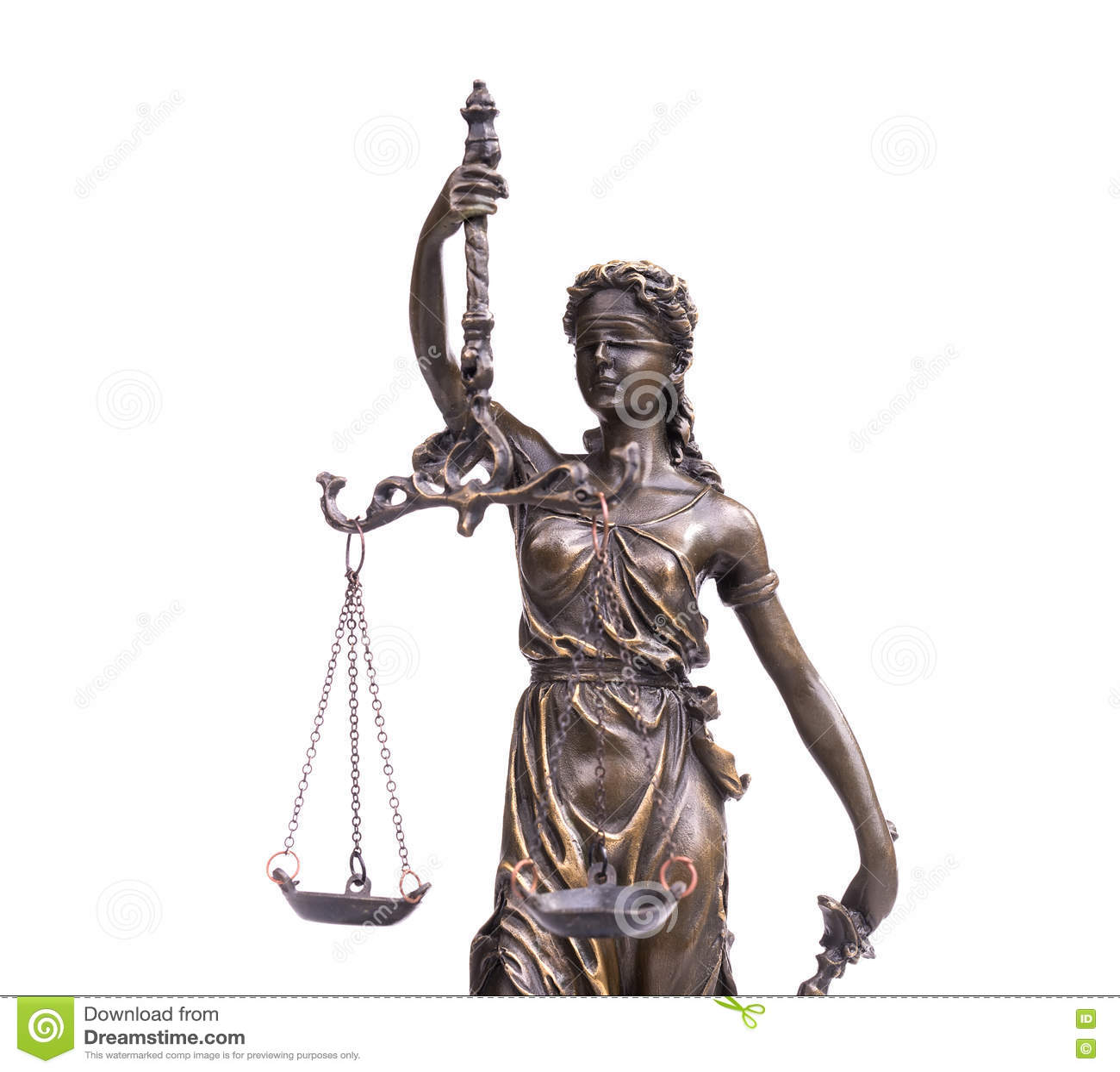 Isolerad white för rättvisasilhouettestaty