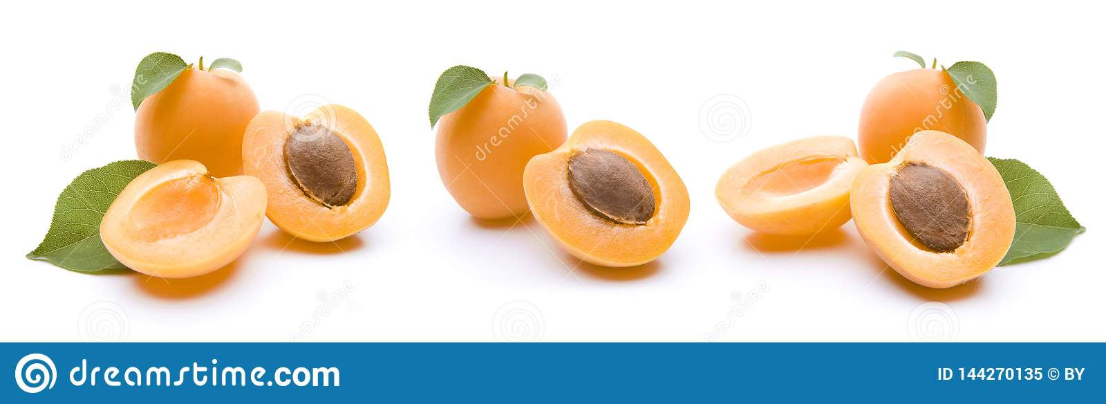 Isolerade aprikosar