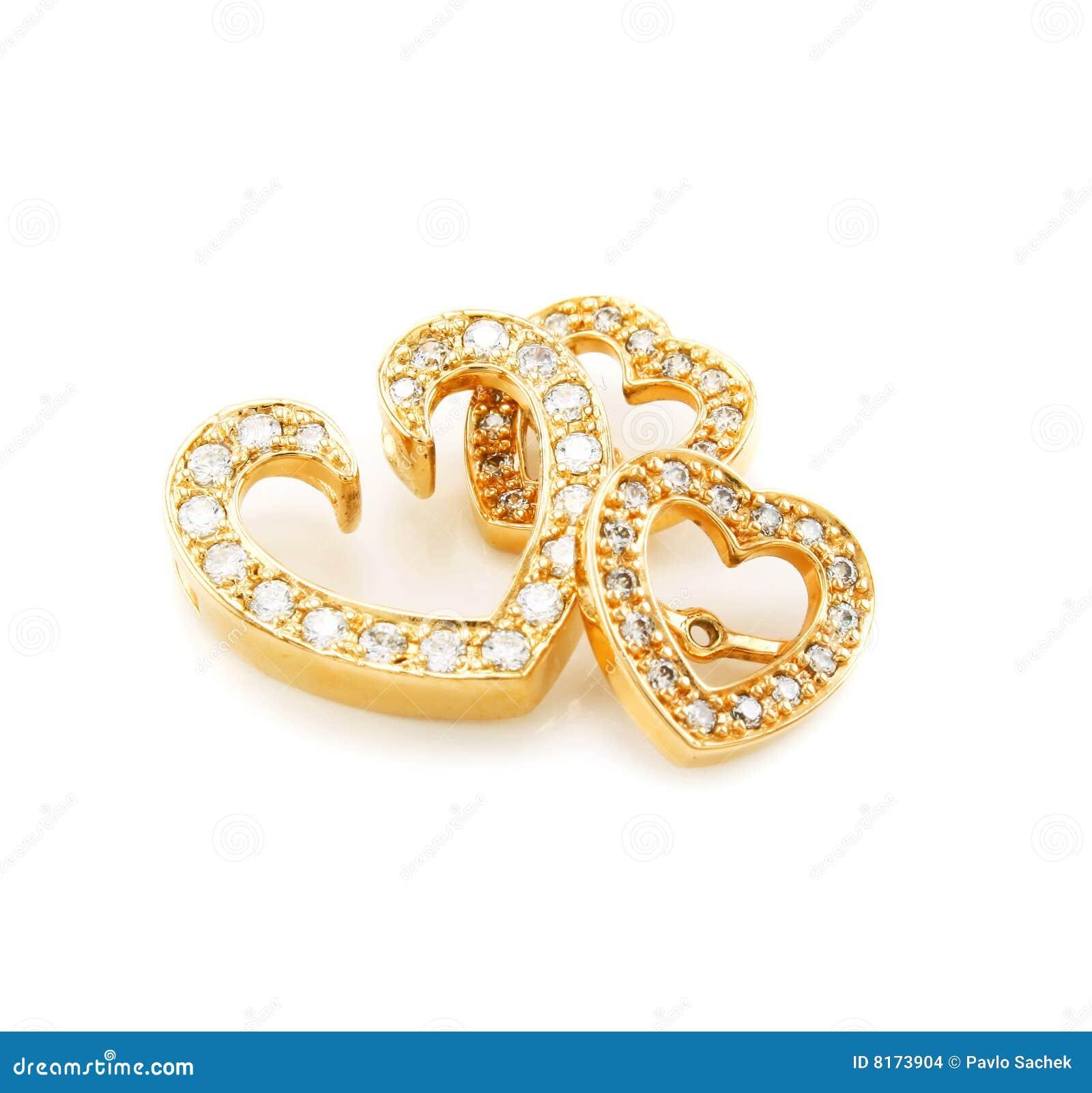Isolerade cirklar för diamantöra guld