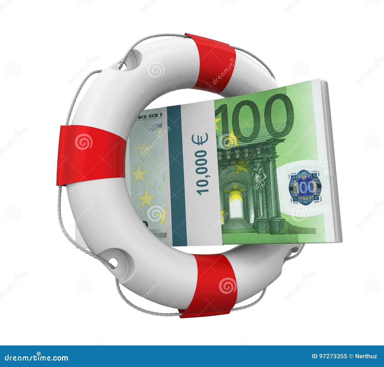 Isolerade euro och livboj