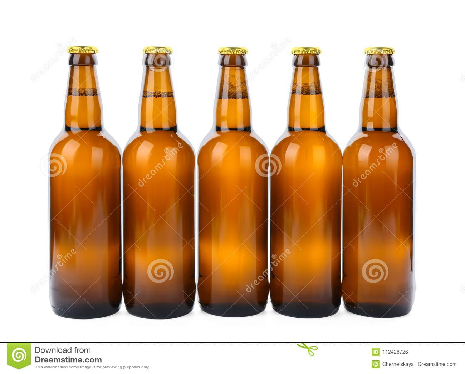 Isolerade glasflaskor av öl