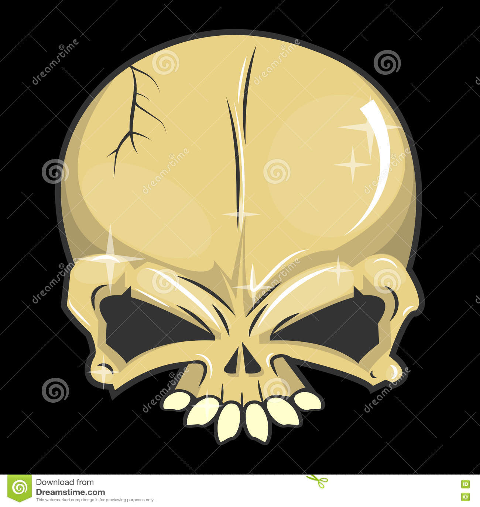 Isolerade vektorillustrationer för allhelgonaafton skalle