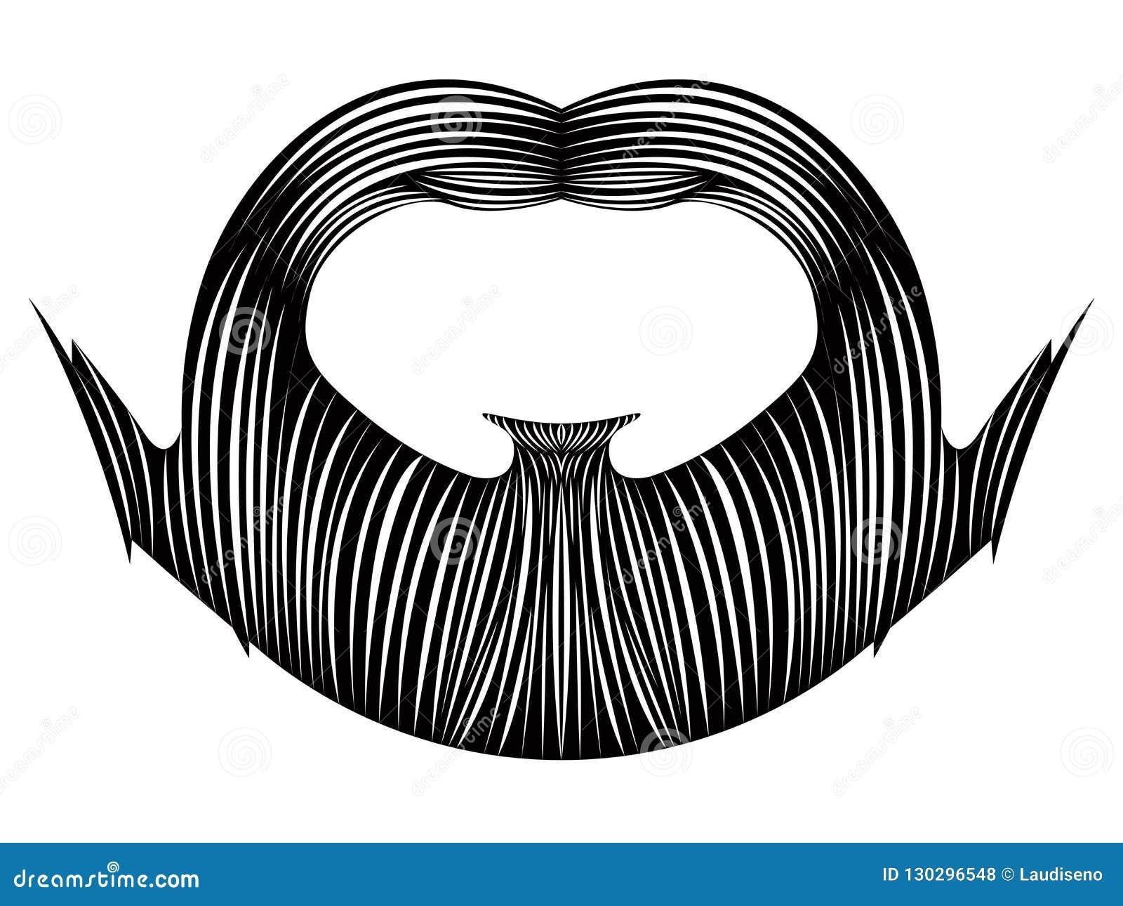 Isolerat detaljerat skägg