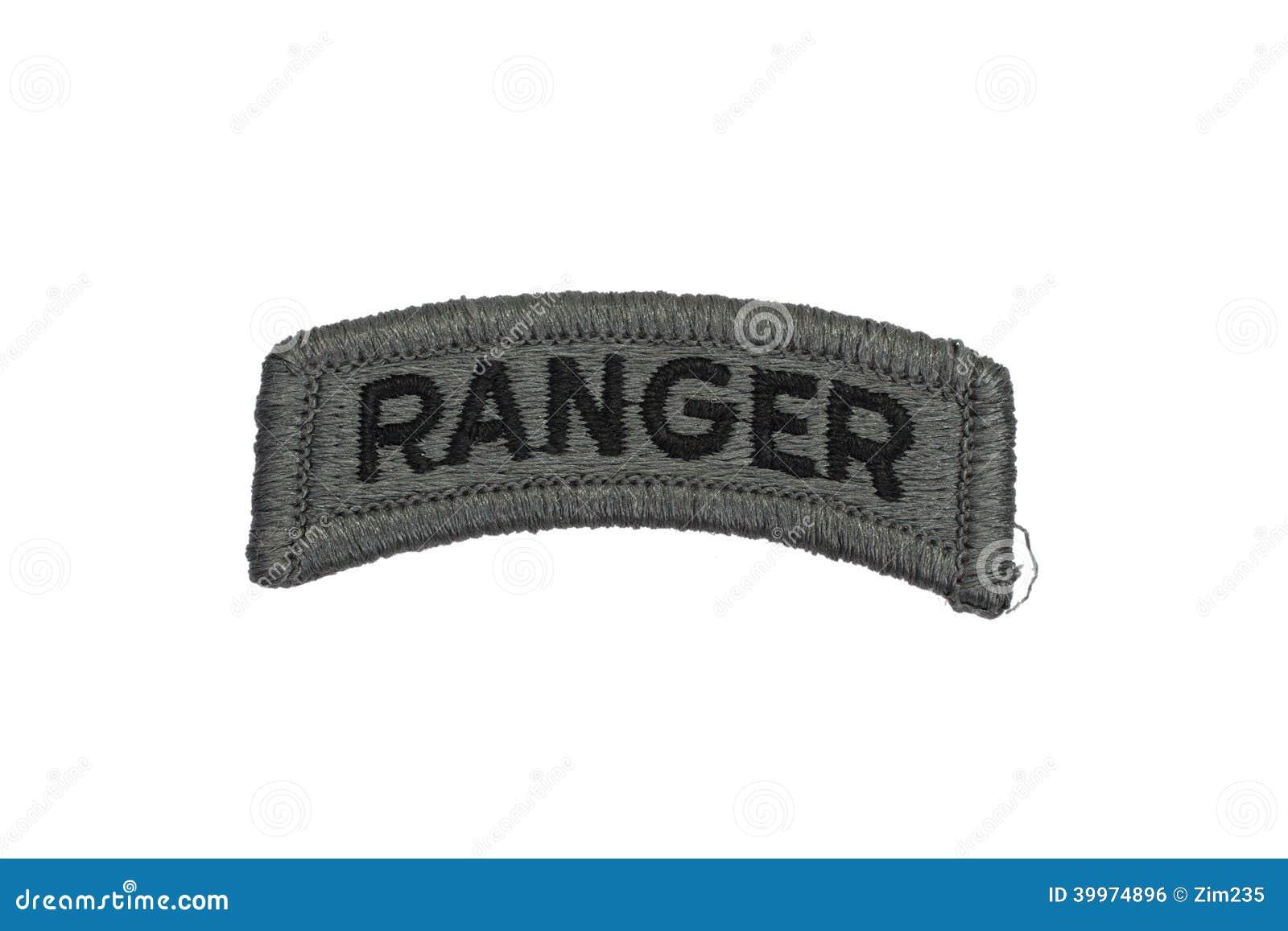 Isolerat emblem för kommandosoldat för USA-ARMÉ