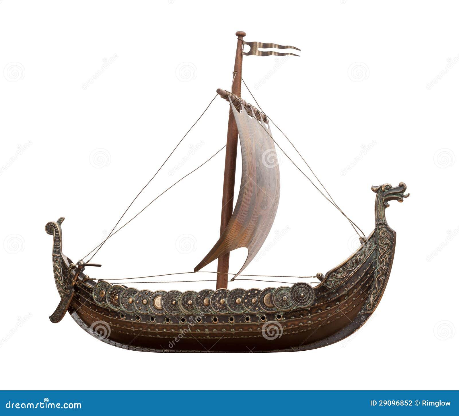 Isolerat gammalt fartyg