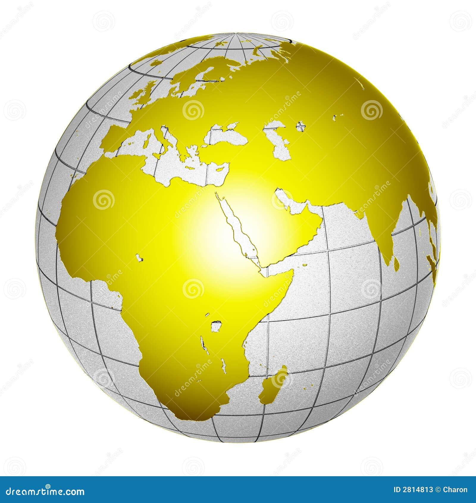 Isolerat planet för jord 3d jordklot