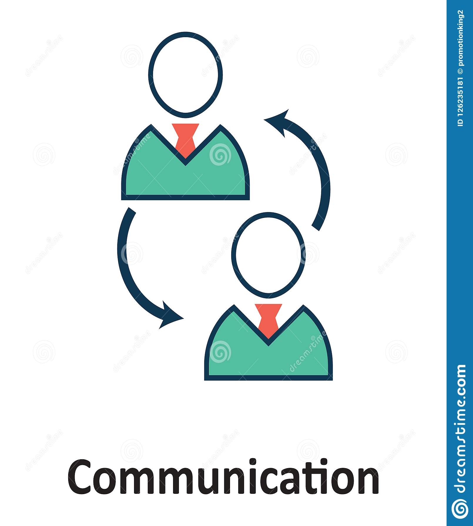 Isolerat samtal och vektorsymbol för teknologi