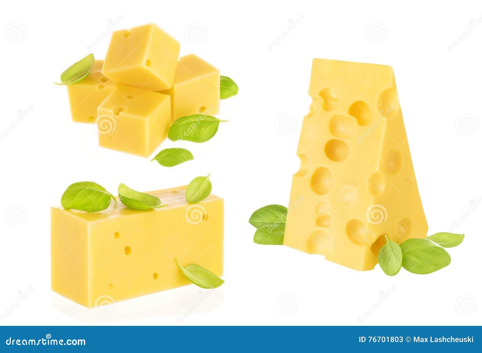Isolerat stycke av ost