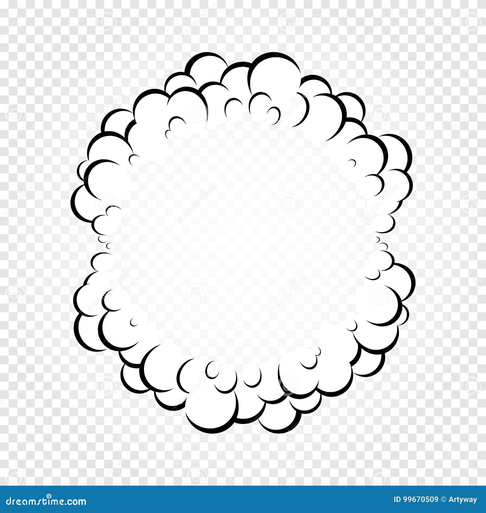 Isolerat tecknad filmanförande bubblar, ramar av rök, eller ånga, komiker för dialog molnet, vektorillustration på vit