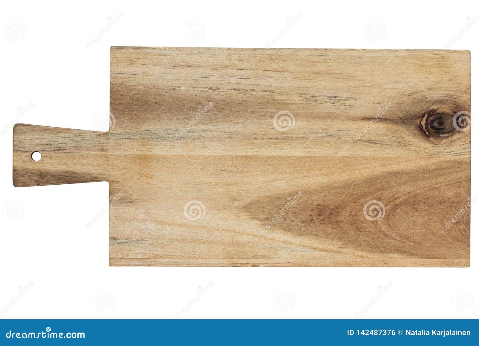 Isolerat vitt trä för bakgrundsbräde cutting