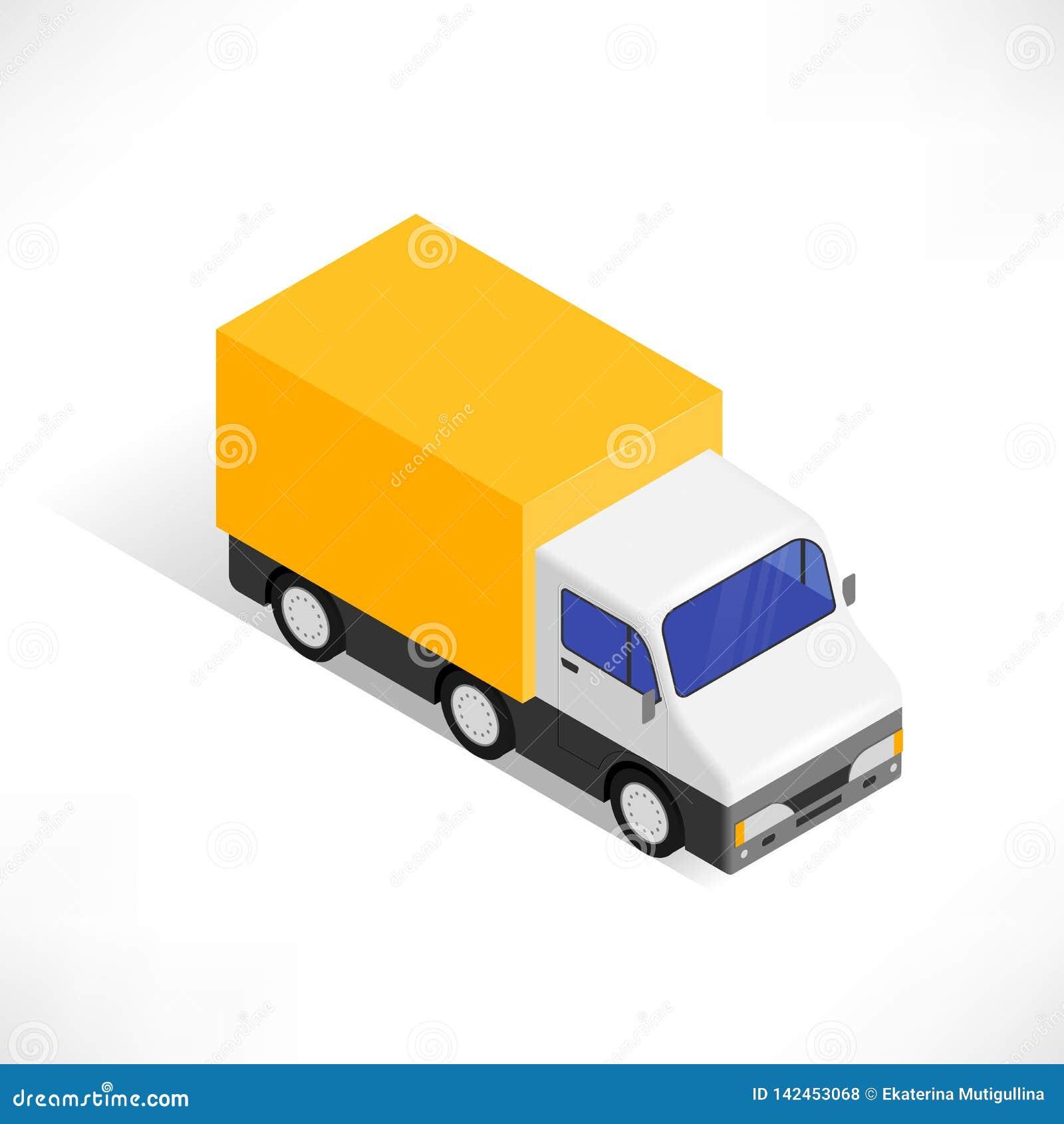 Isometric εικονίδιο φορτηγών