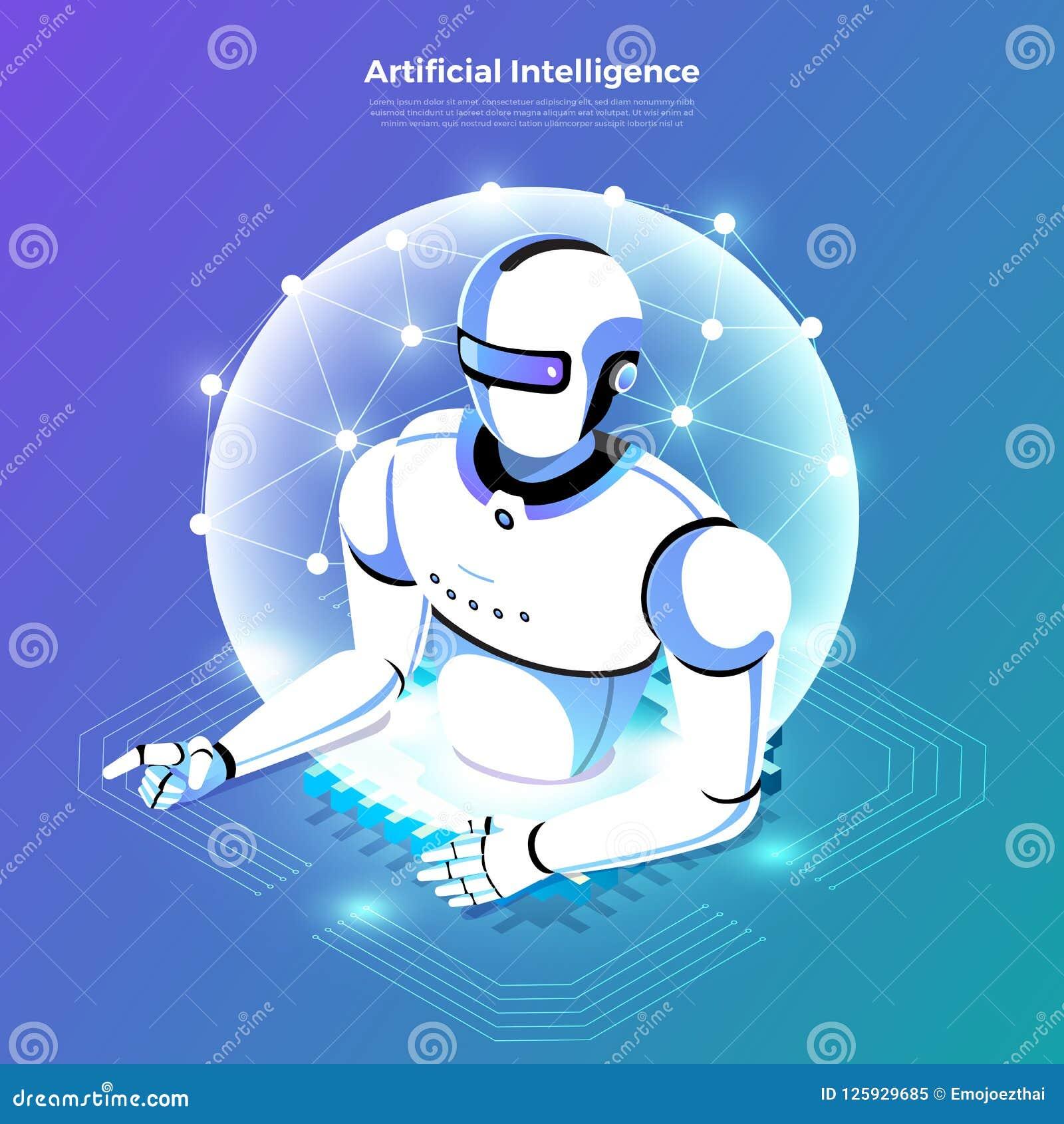 Isometric artificial intelligence AI