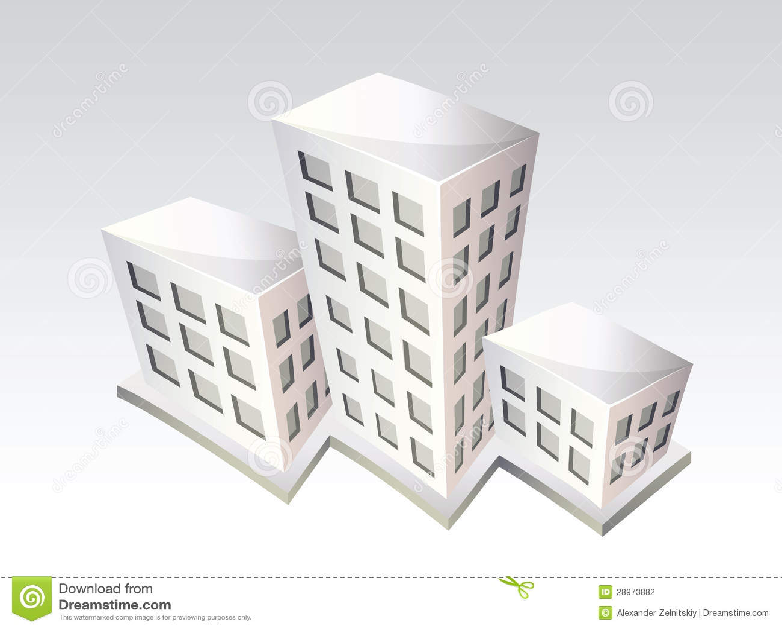 Isometric budynki