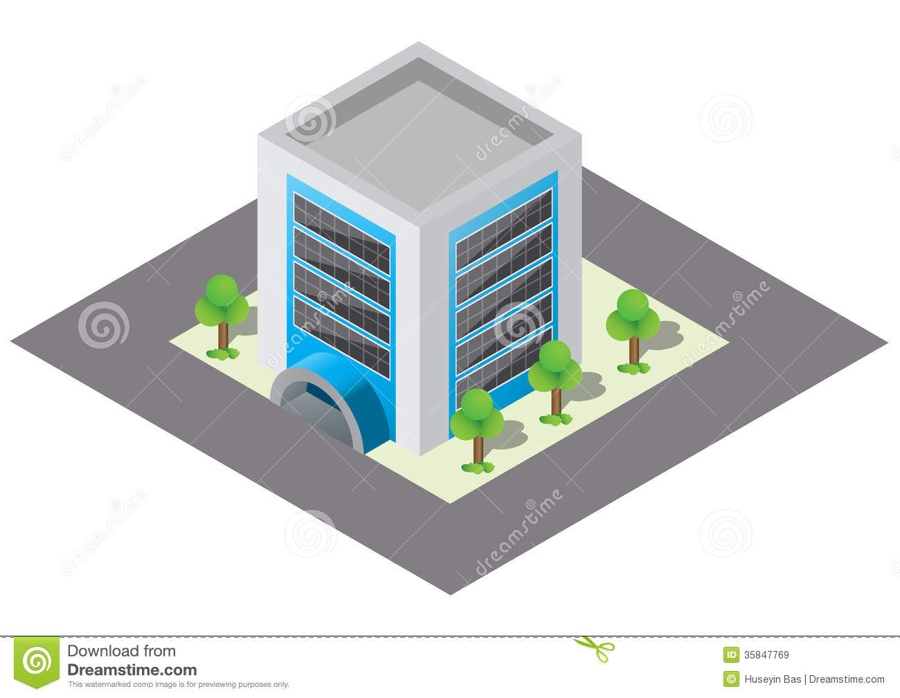 Isometric building stock vector image of image district for The model apartment play