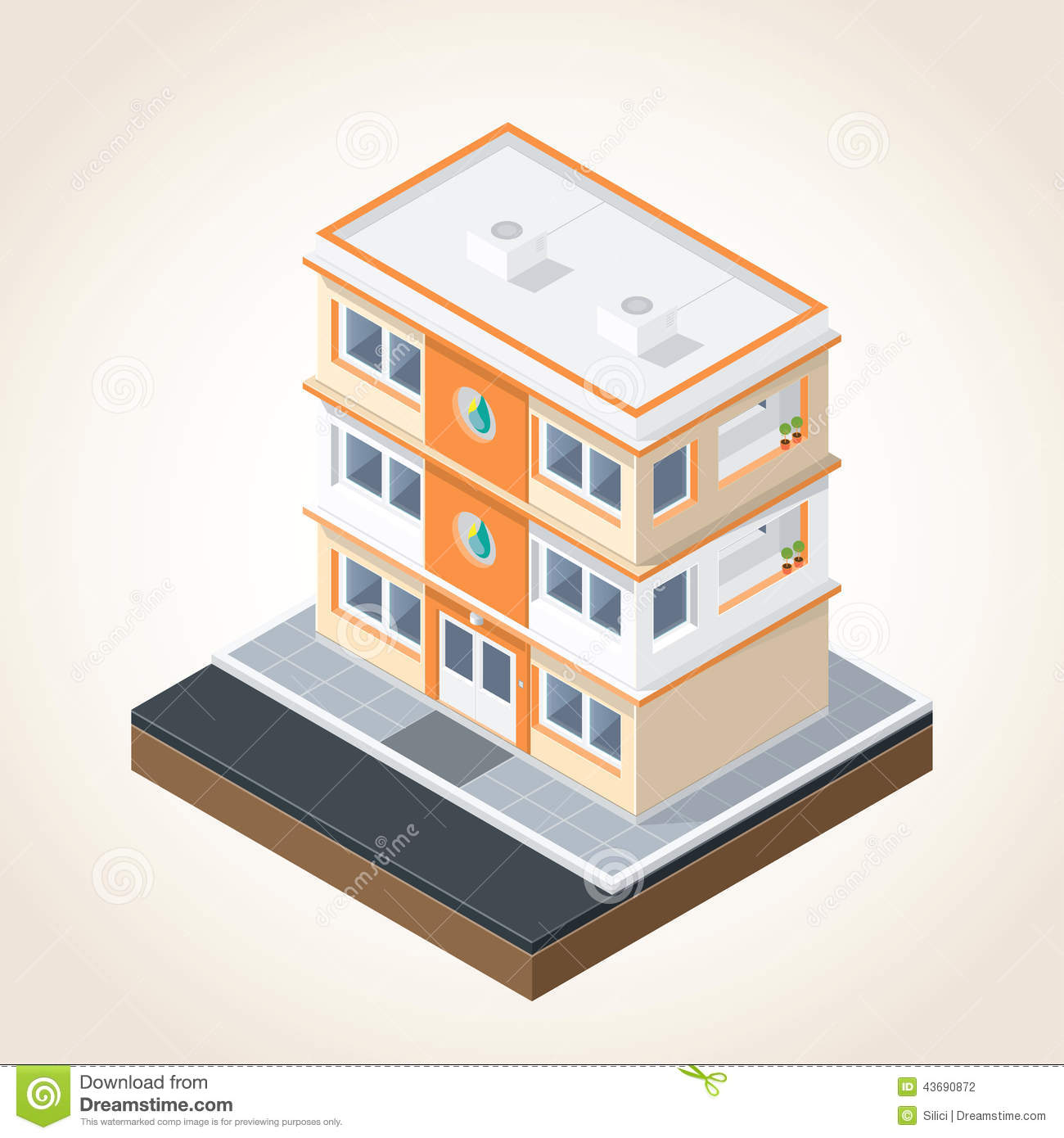 Isometric buildings set 1 stock vector image 43690872 for Building terms