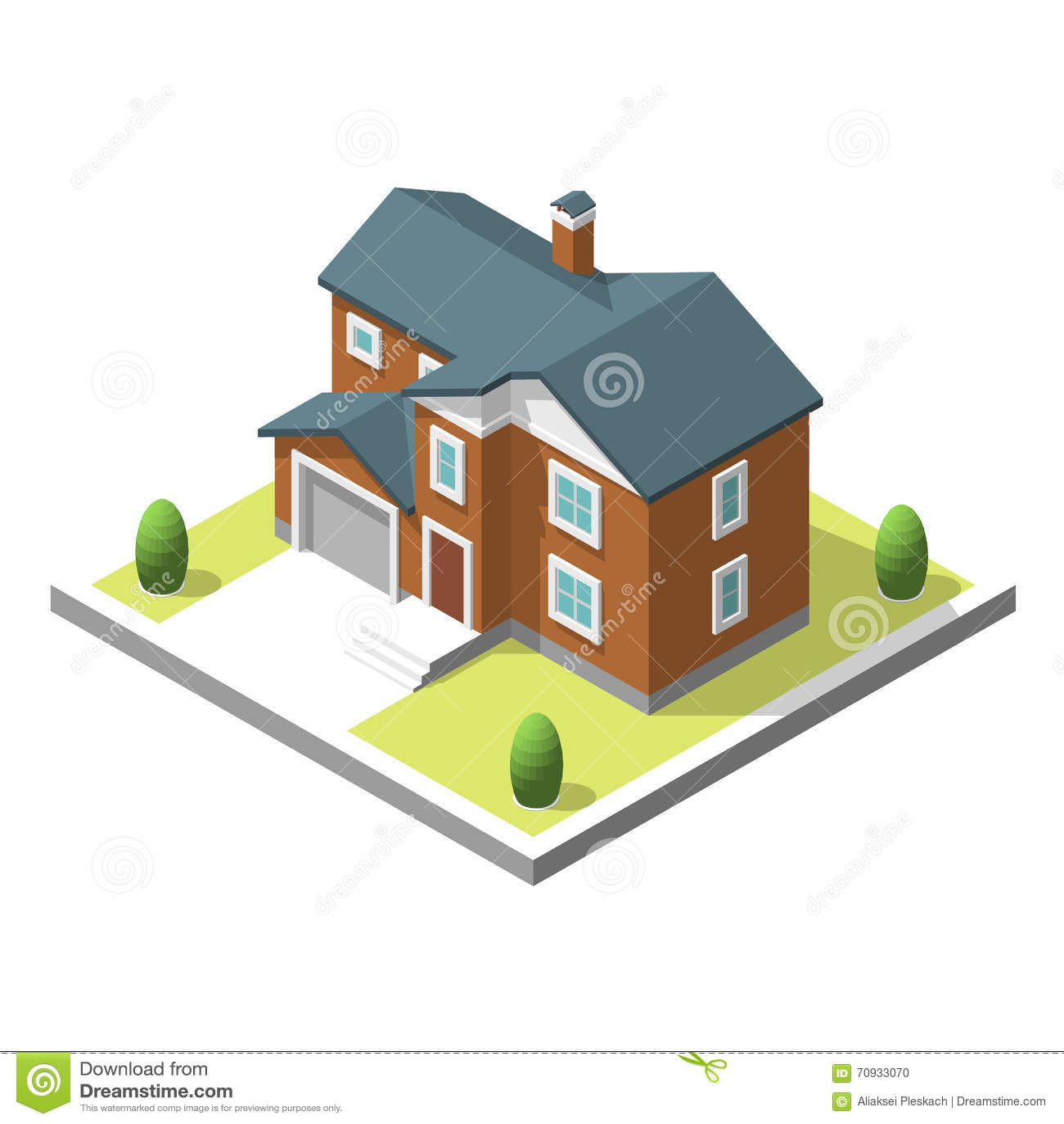 Medieval buildings isometric collection vector - Como hacer un plano de una casa ...