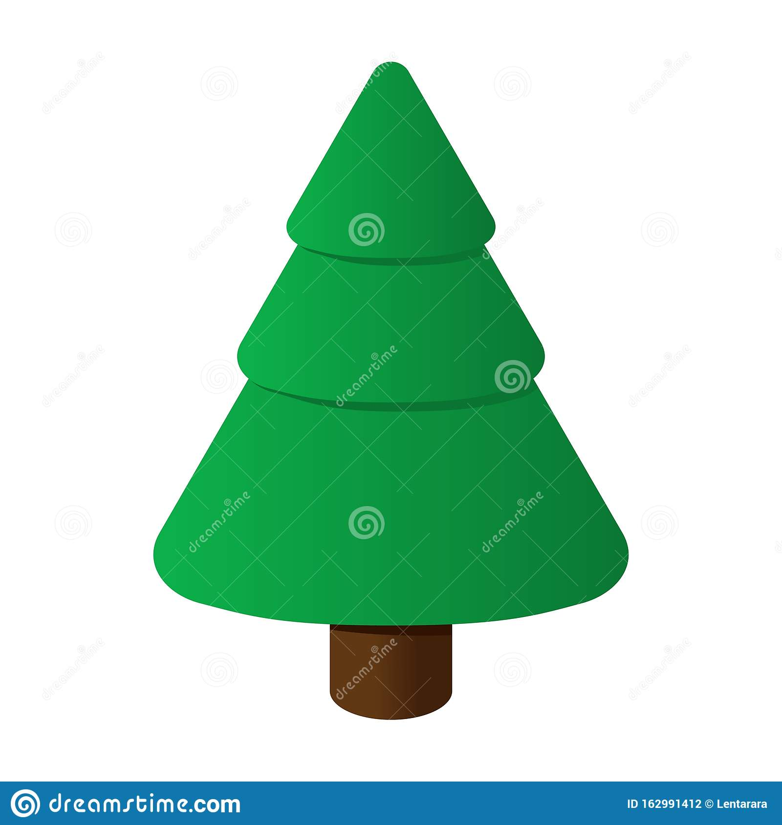 Isometric Christmas Tree Isolated On White Background ...