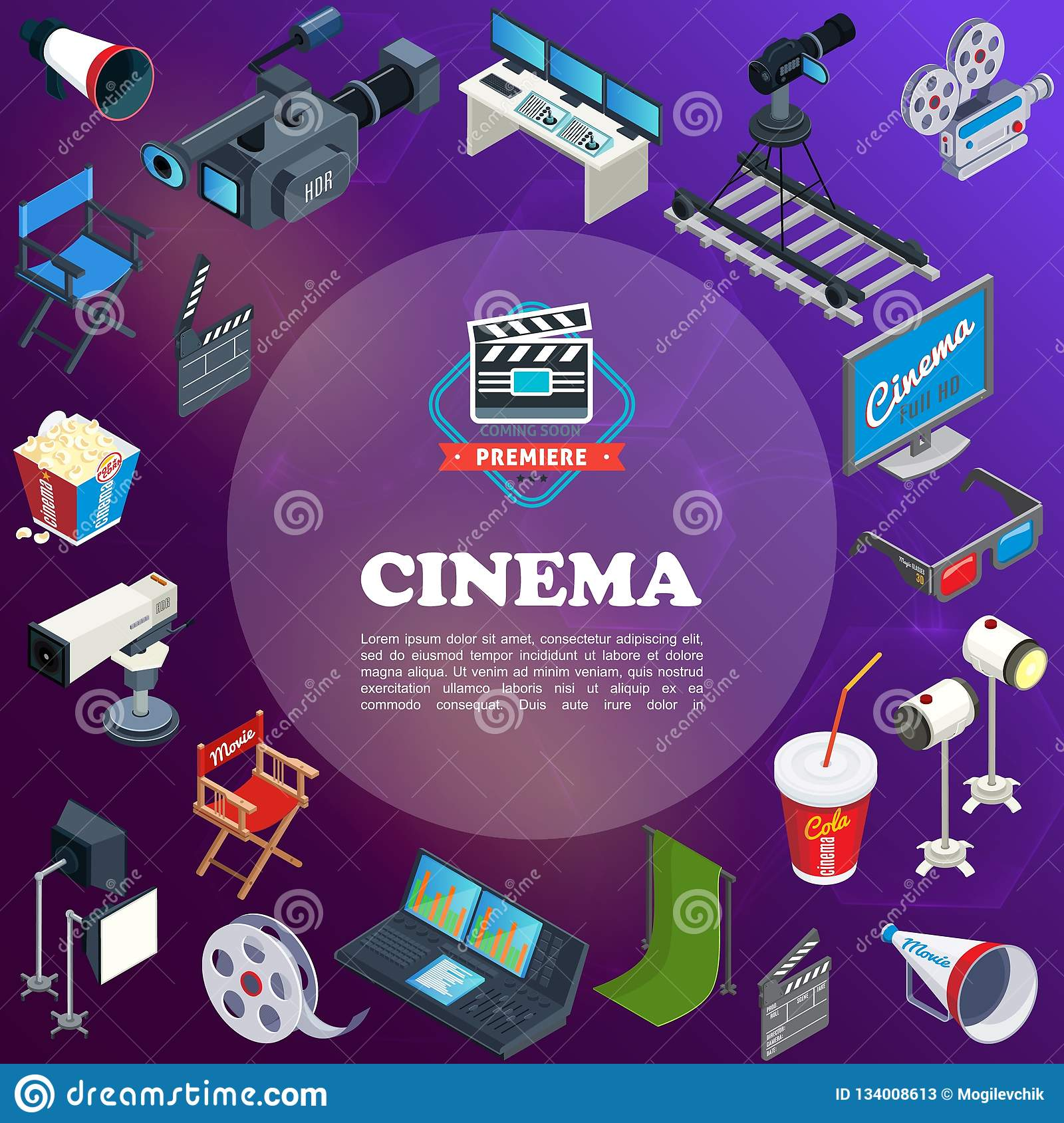 Isometric Cinema Concept