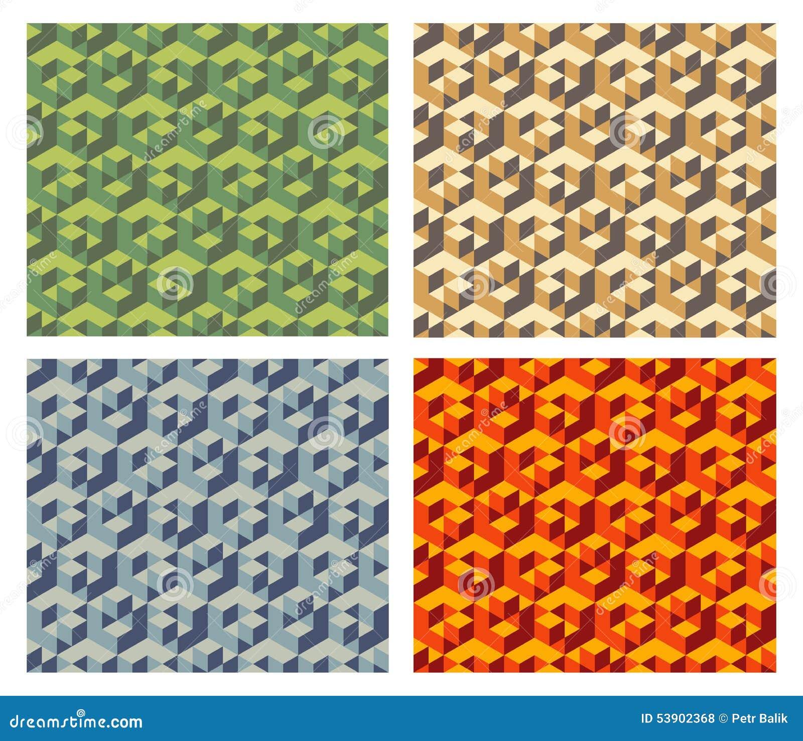 Isometric Cubes Pattern Stock Illustration - Image: 53902368