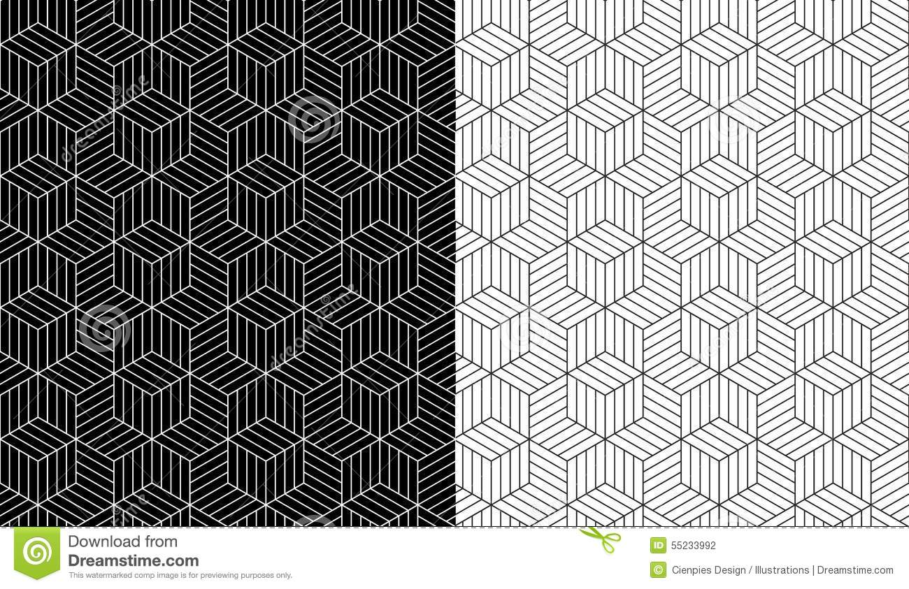 Isometric 3d Line Cube Pattern Background Stock Vector ...