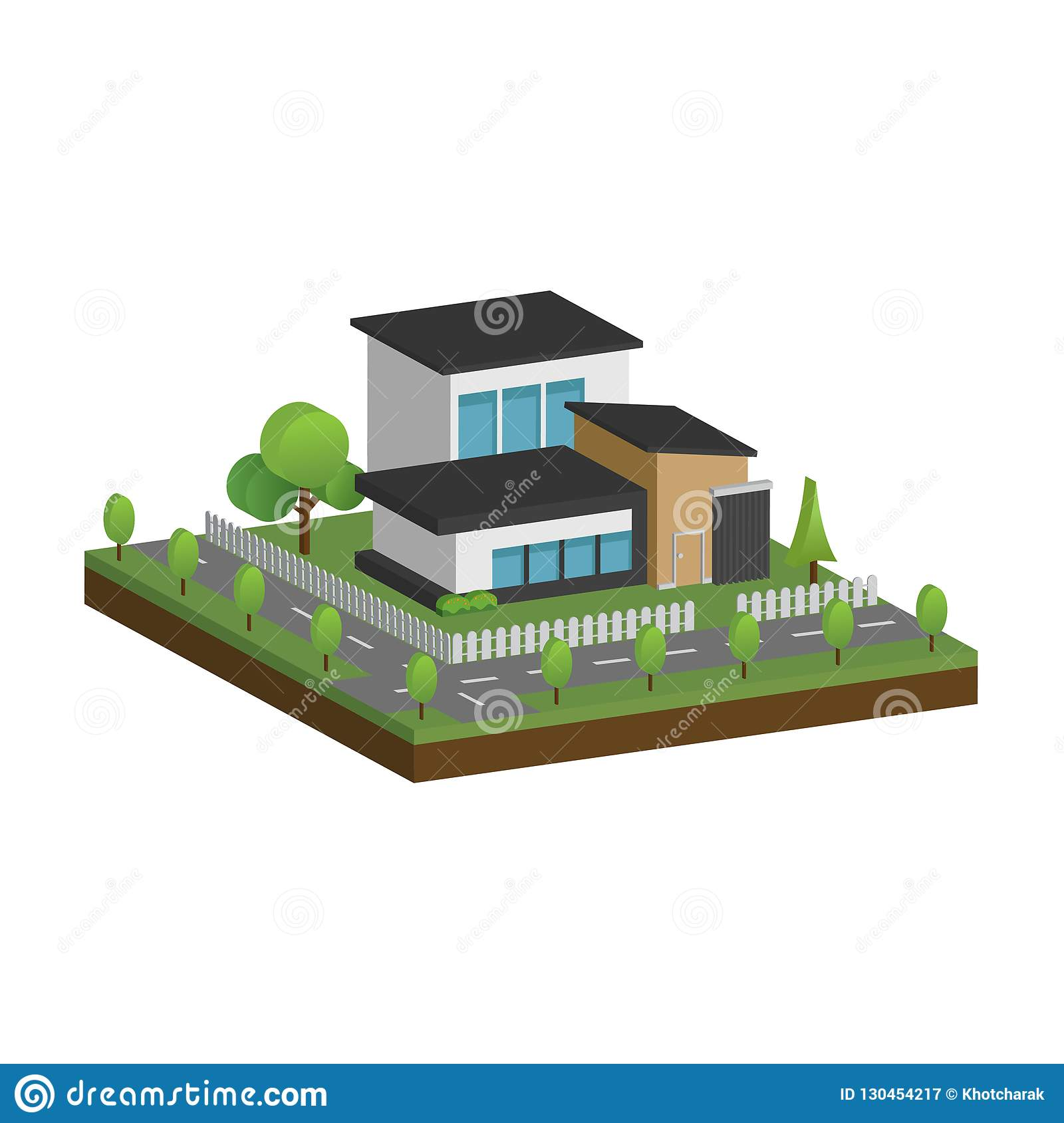 Isometric And 3d Of Modern Houses And Building Architecture Design Stock Illustration Illustration Of Diversity Apartment 130454217