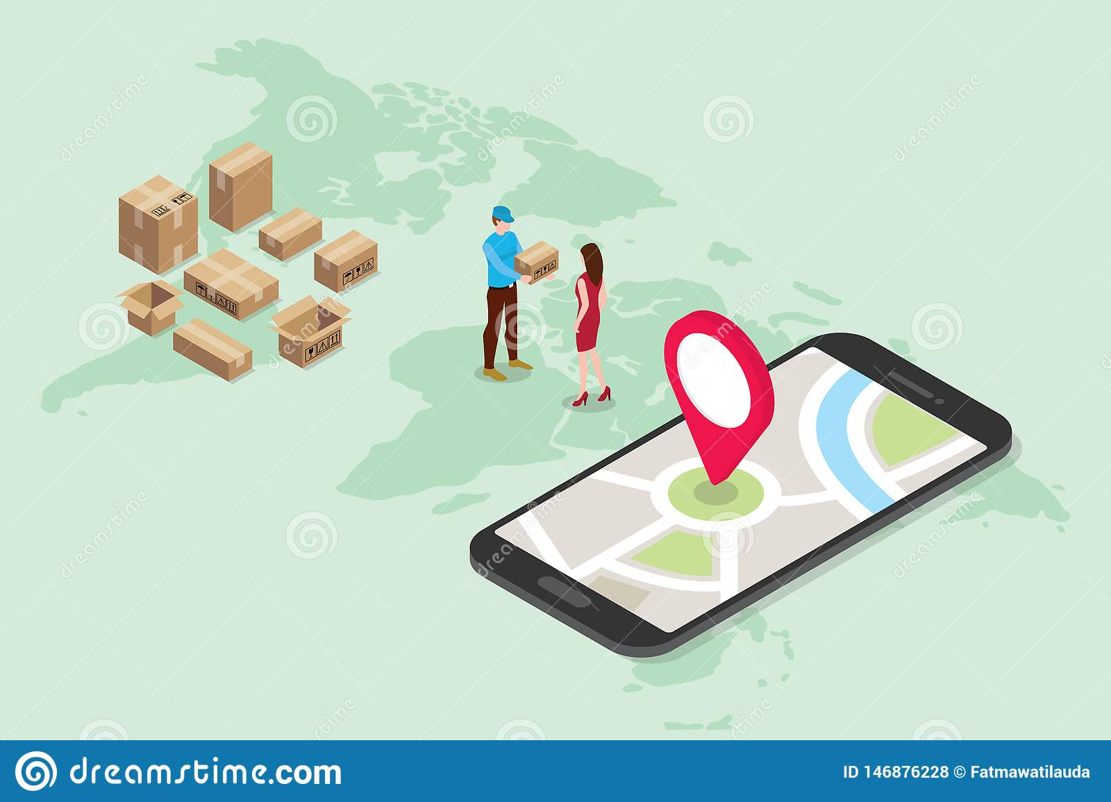 Isometric 3d Online Delivery Service Concept With People ... on manufacturing map, tax map, proxy map, tracking map, old world pirate map, albion map, inventory map, refugee map, ancient world map, documentation map, training map, safety map, development map, planning map, strategy map, research map, shipping map, service map, shipment map,