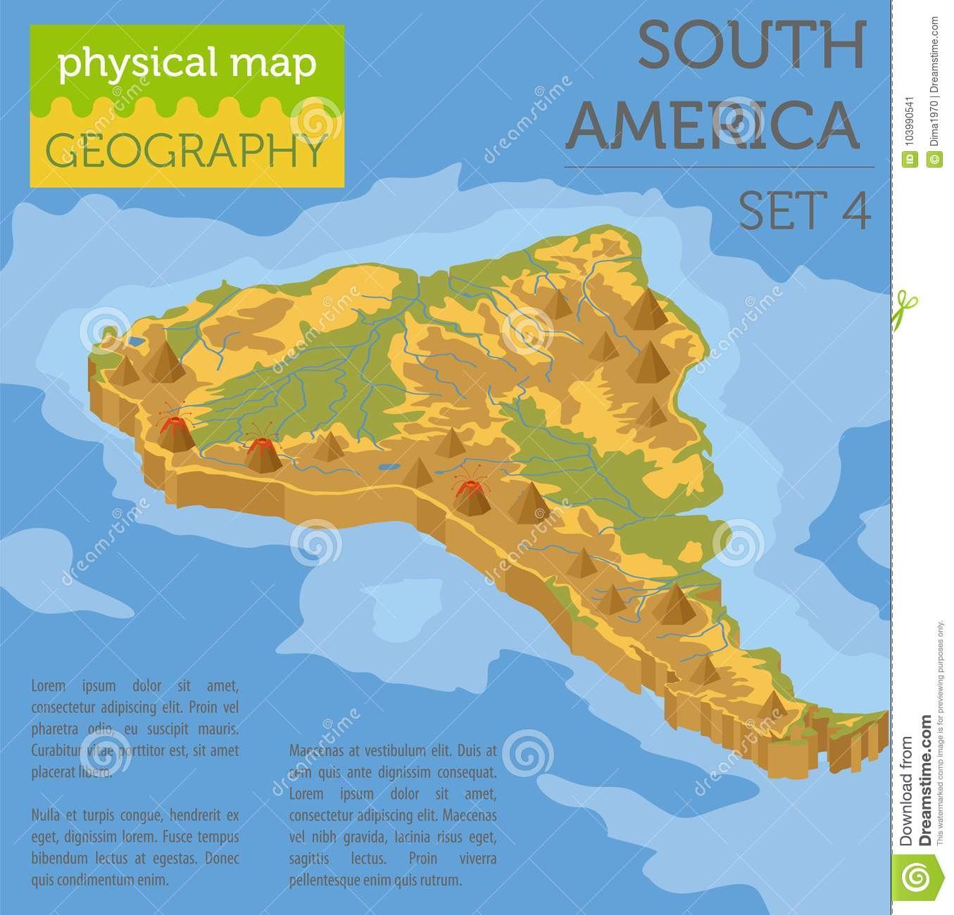 Deserts In South America Map on