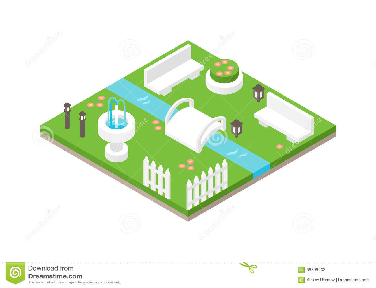 Isometric Nature Design Royalty Free Illustration