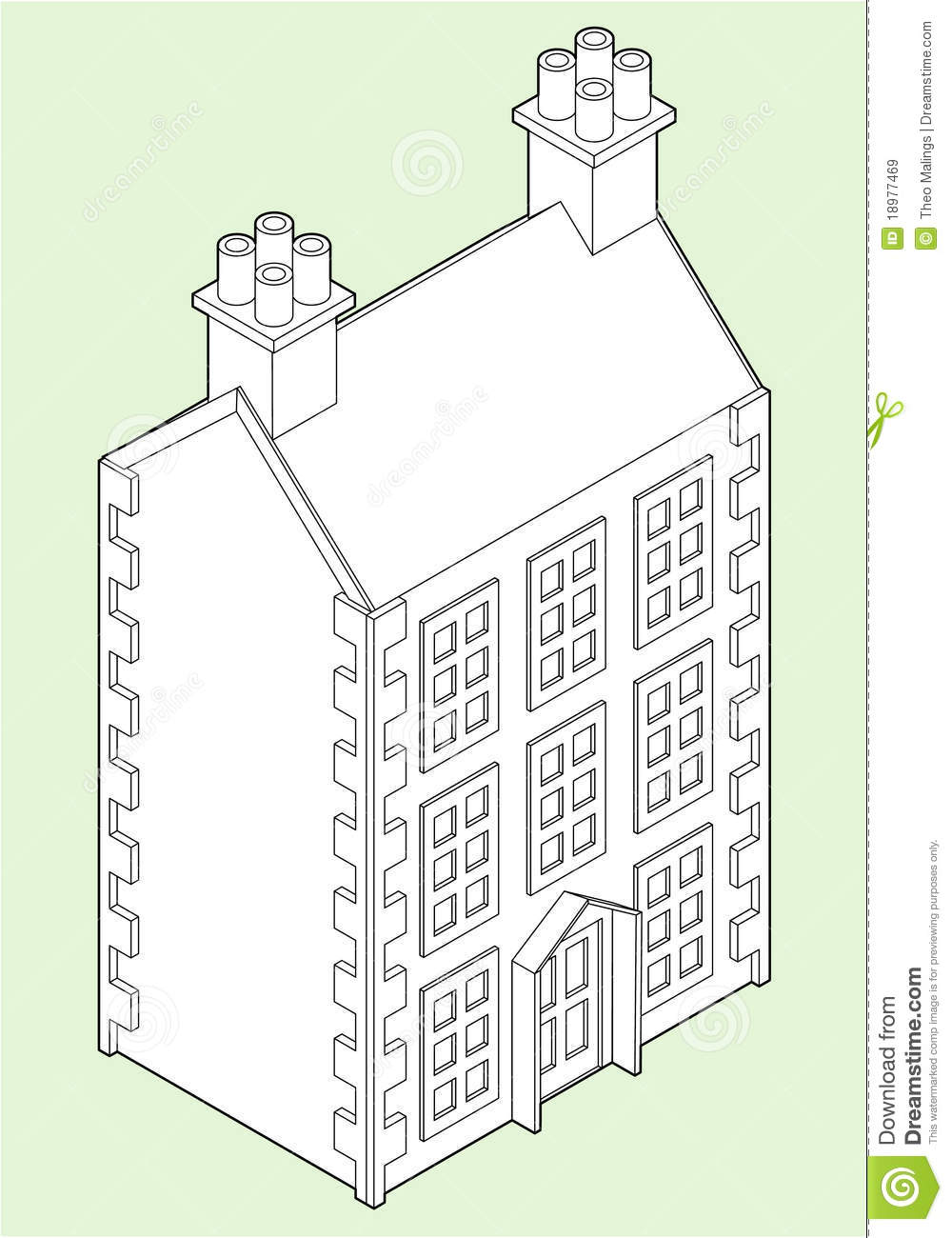Isometric House Drawing Isometric dolls house drawing
