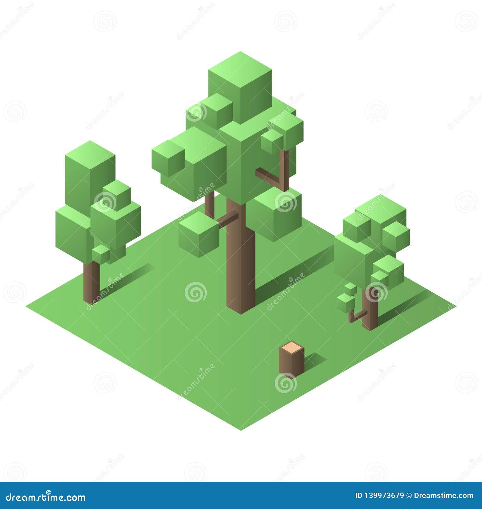Isometric drzewo, Isomatric wektoru set