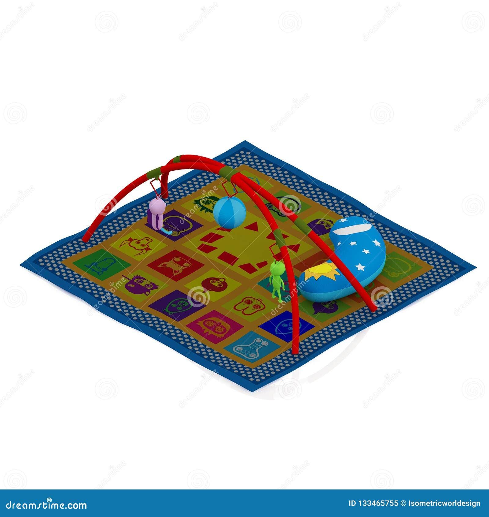 Isometric dzieciaka przedmiota 3D rendering