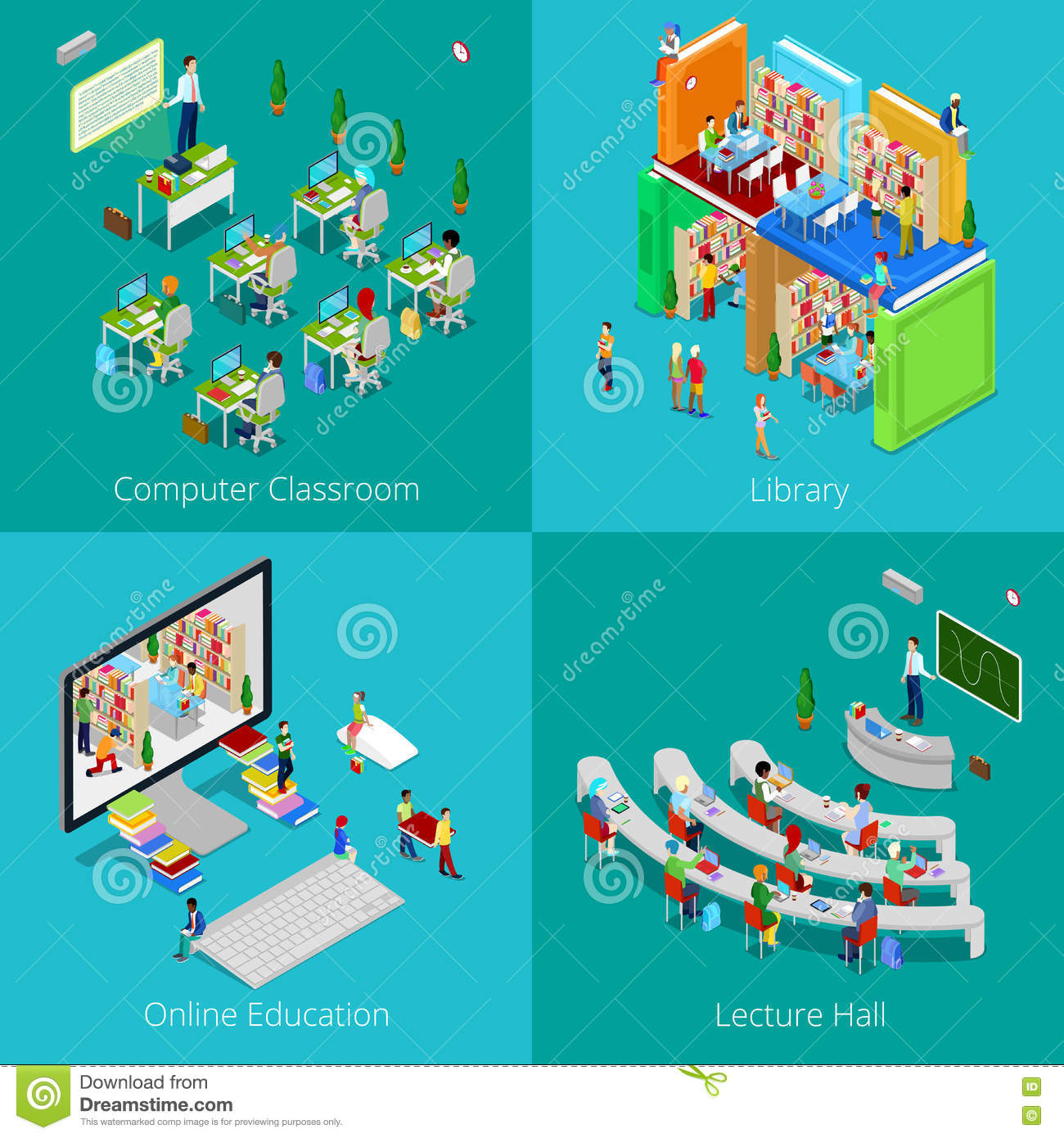 https://thumbs.dreamstime.com/z/isometric-educational-concept-university-computer-classroom-online-education-library-college-lecture-hall-students-vector-d-78504553.jpg