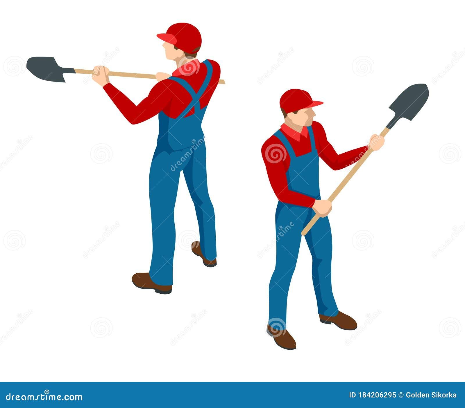 Digging Shovel Clip Art - Royalty Free - GoGraph