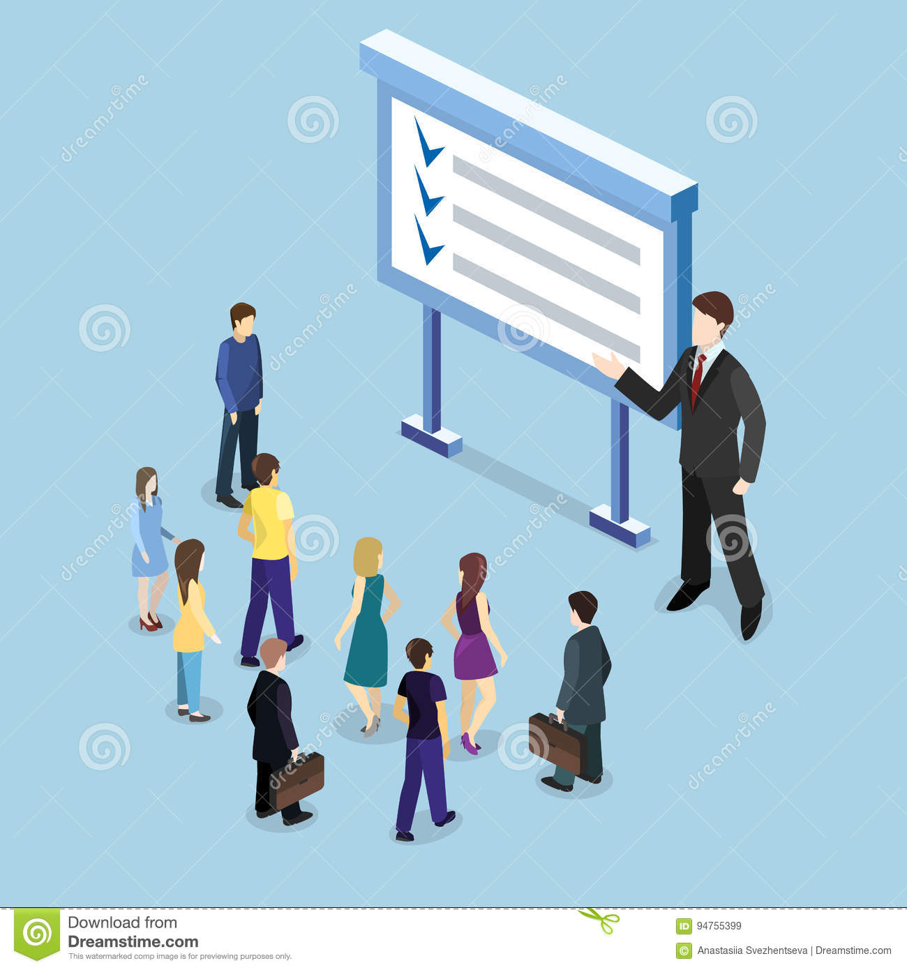 Exhibition Stand Vector : Isometric flat d concept vector exhibition or promotion