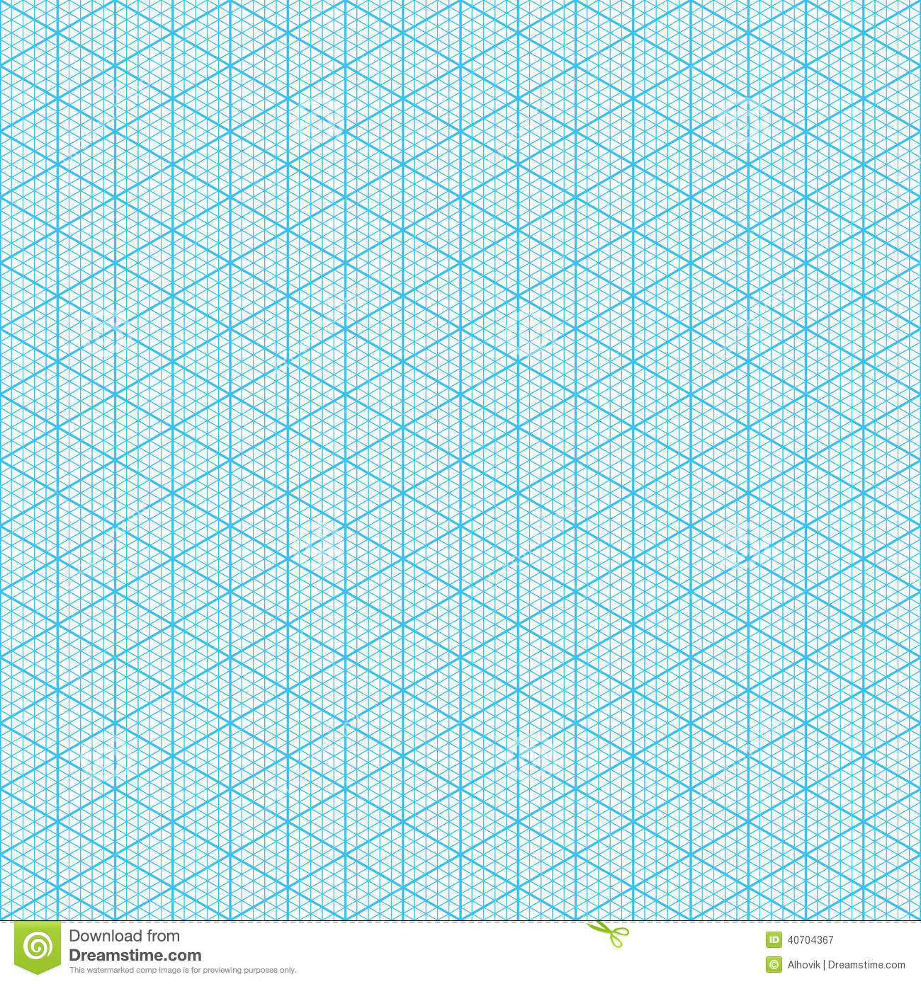 isometric graph paper stock vector  illustration of blank