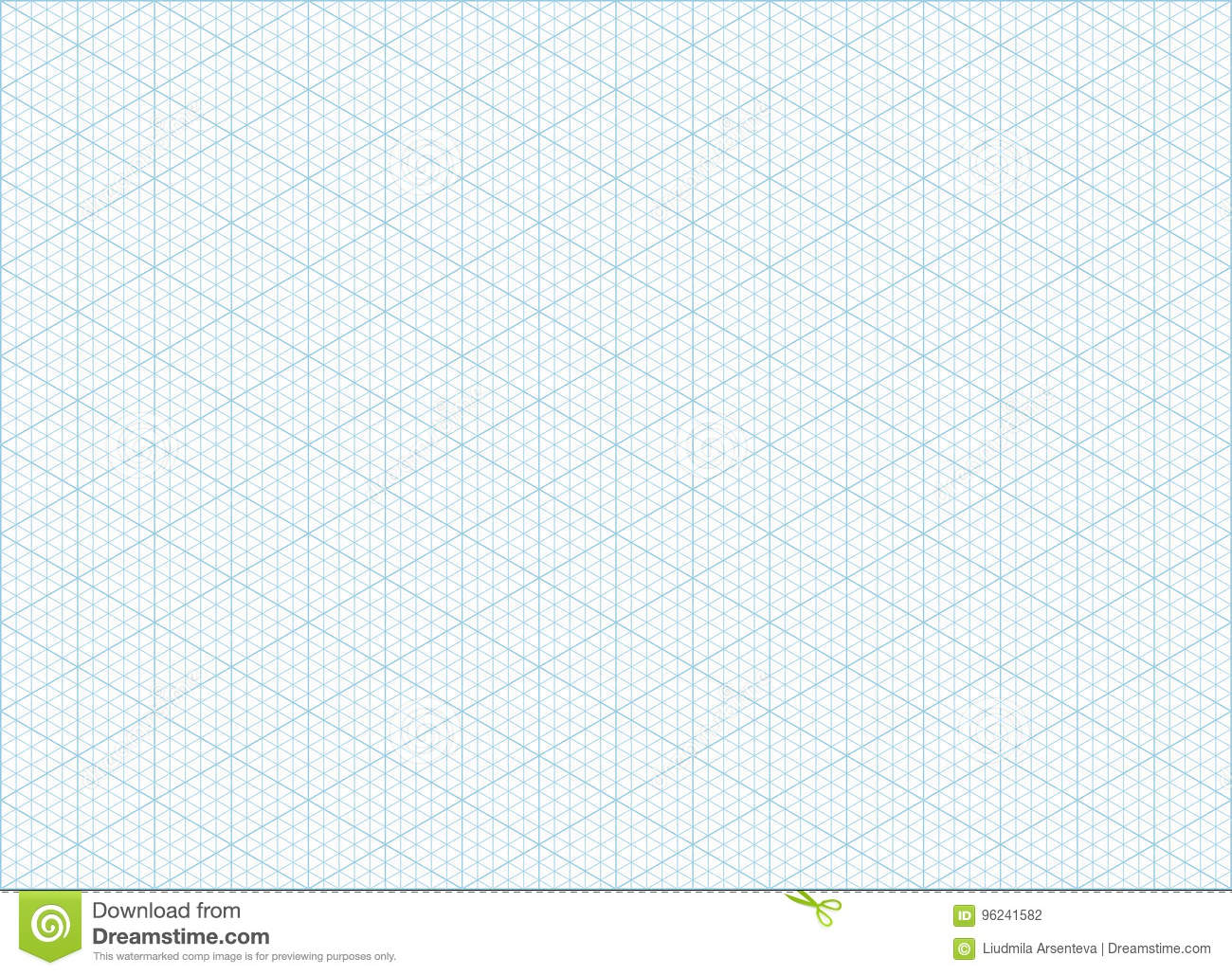 Isometric grid graph paper background stock vector for Landscape design paper