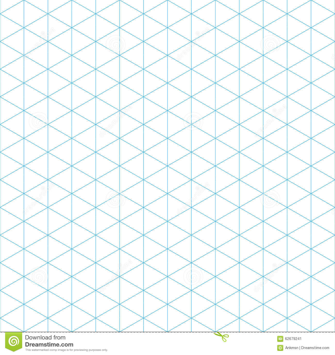 isometric grid seamless pattern stock vector