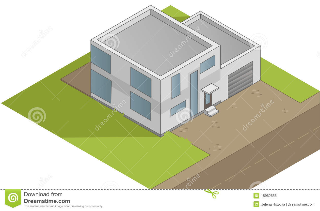 Isometric House Illustration Royalty Free Stock Photos