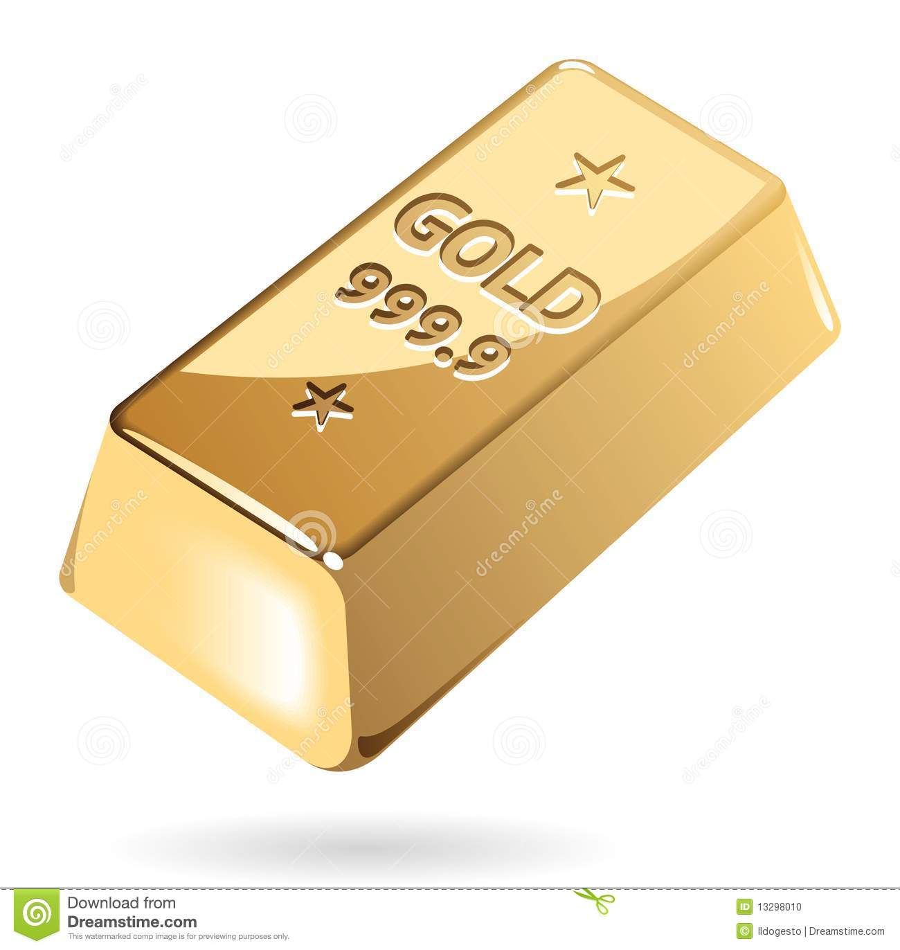 Gold pile drawing