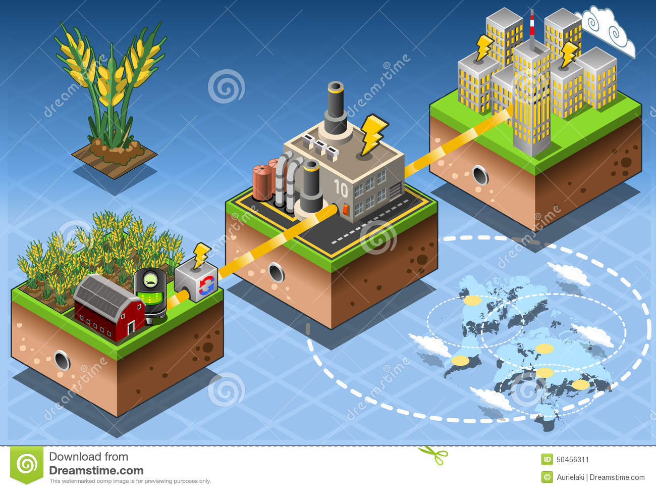 Diagram Of Geothermal Energy Plant Data Schema Power Schematic Isometric Infographic Biomass Source Renewable Flow