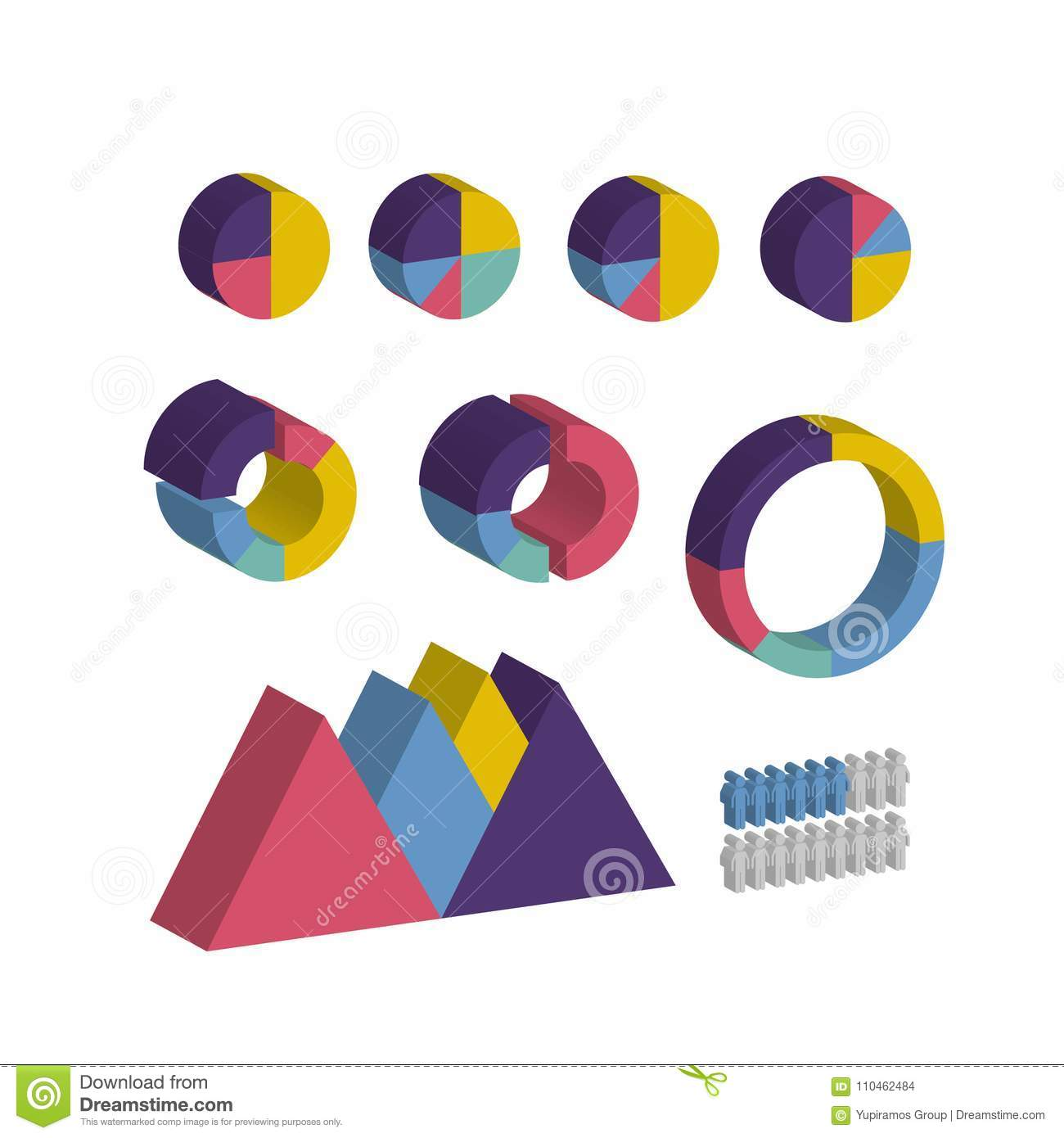 Isometric Infographic Business Diagram Information Stock Vector The Purpose Of An Is To