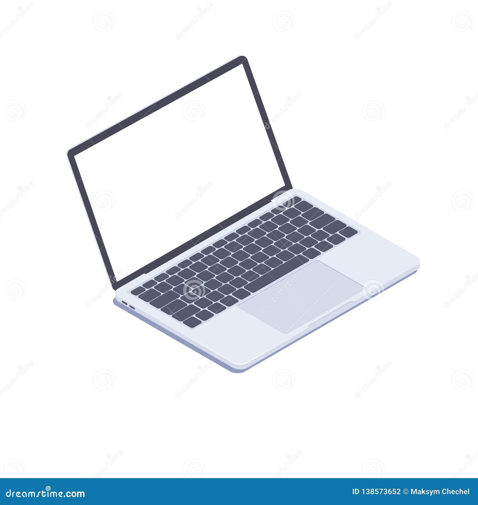 Isometric Laptop Vector 3d Isometric Laptop Computer Stock