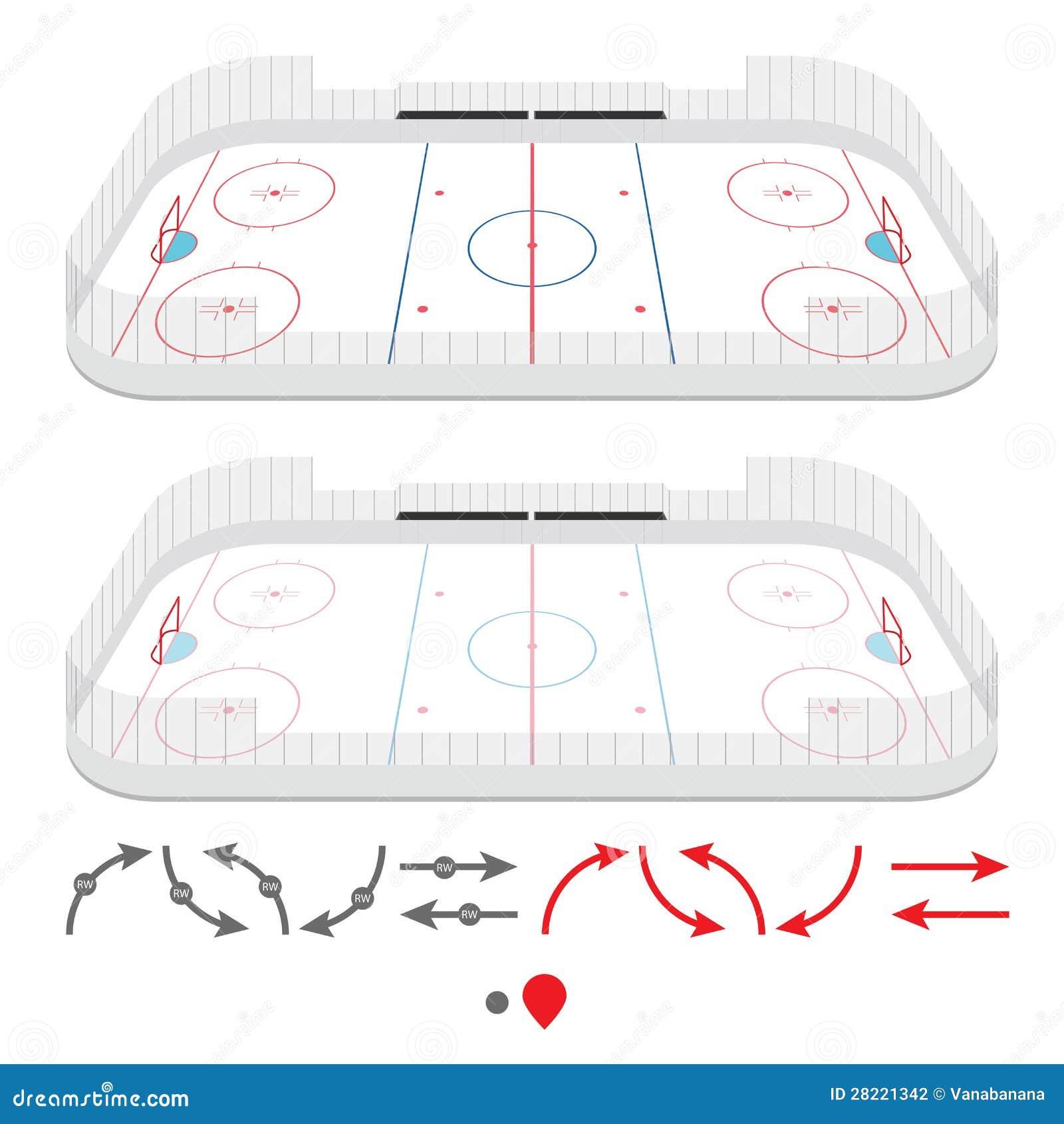 Isometric lodowego hokeja lodowisko