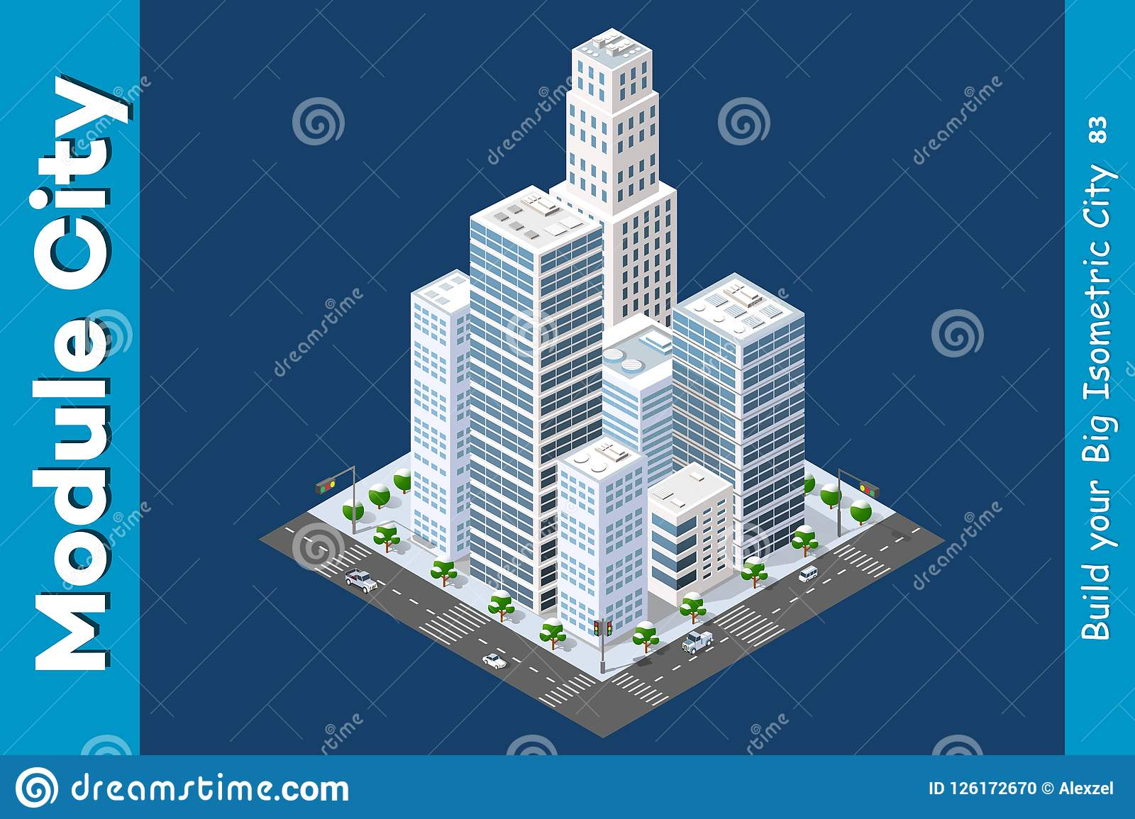 Isometric Of The Modern City Stock Vector - Illustration of