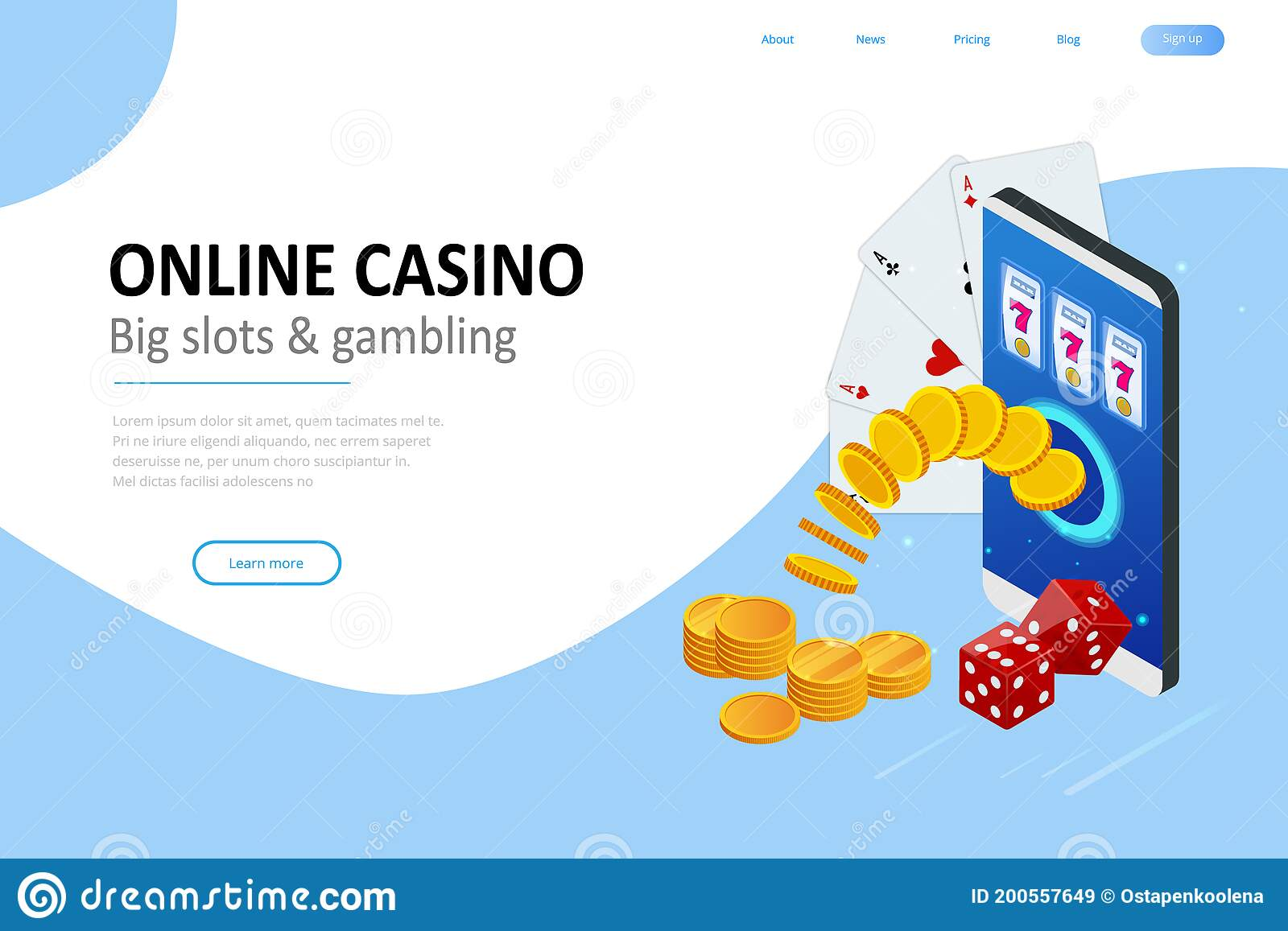 Isometric Online Casino Concept Online Big Slots Casino Marketing Banner Gaming Apps Web Landing Page Template Stock Vector Illustration Of Luxury Game 200557649